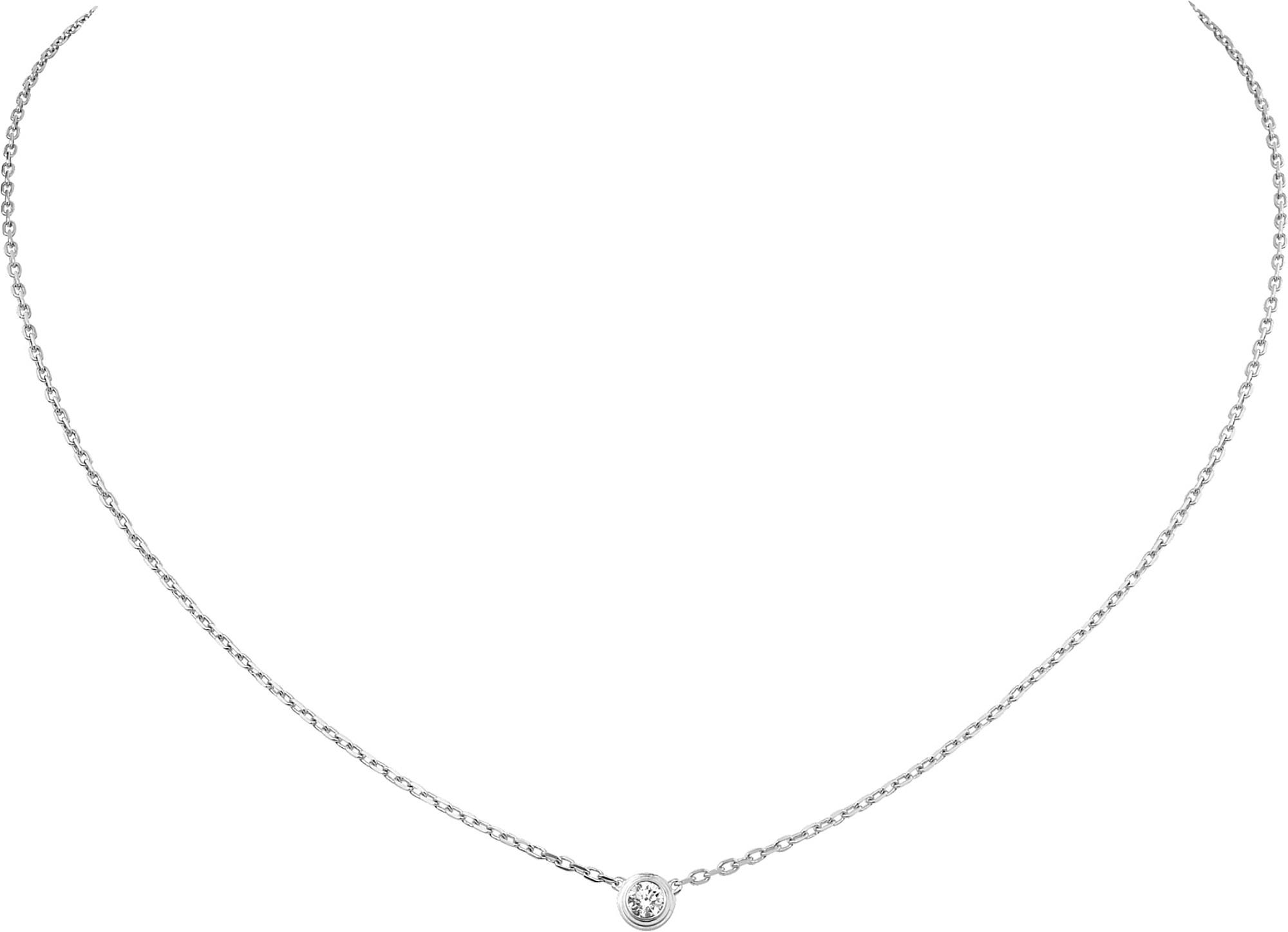 ab0b4f726dc25 Cartier Diamants Légers De 18ct White-gold And Diamond Necklace in ...