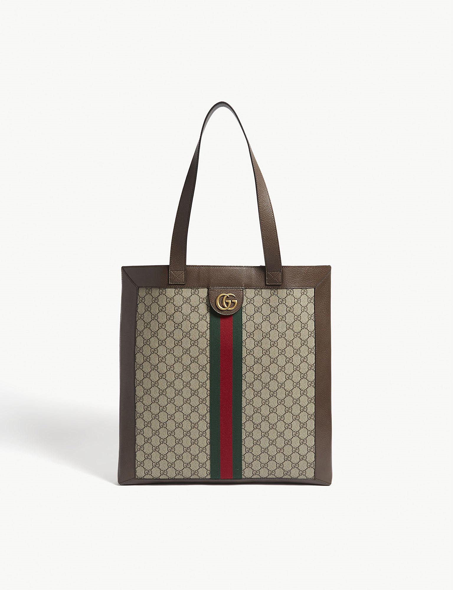 Gucci Tan Timeless Ophidia Gg Supreme Tote Bag in Brown - Save ... f82463ce9aa