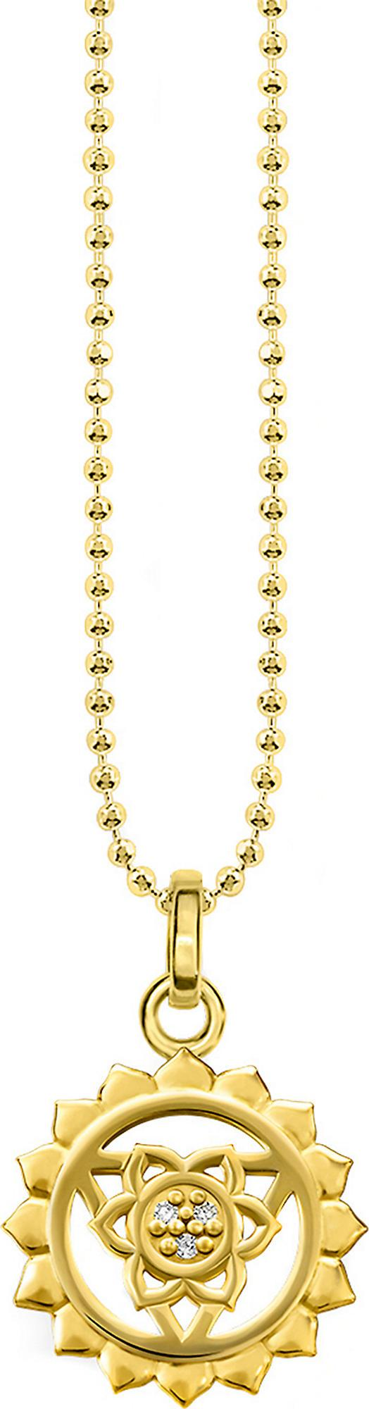 Thomas Sabo Viśuddha 18ct Gold-plated Sterling Silver And Crystal Necklace in Gold Yellow (Metallic)
