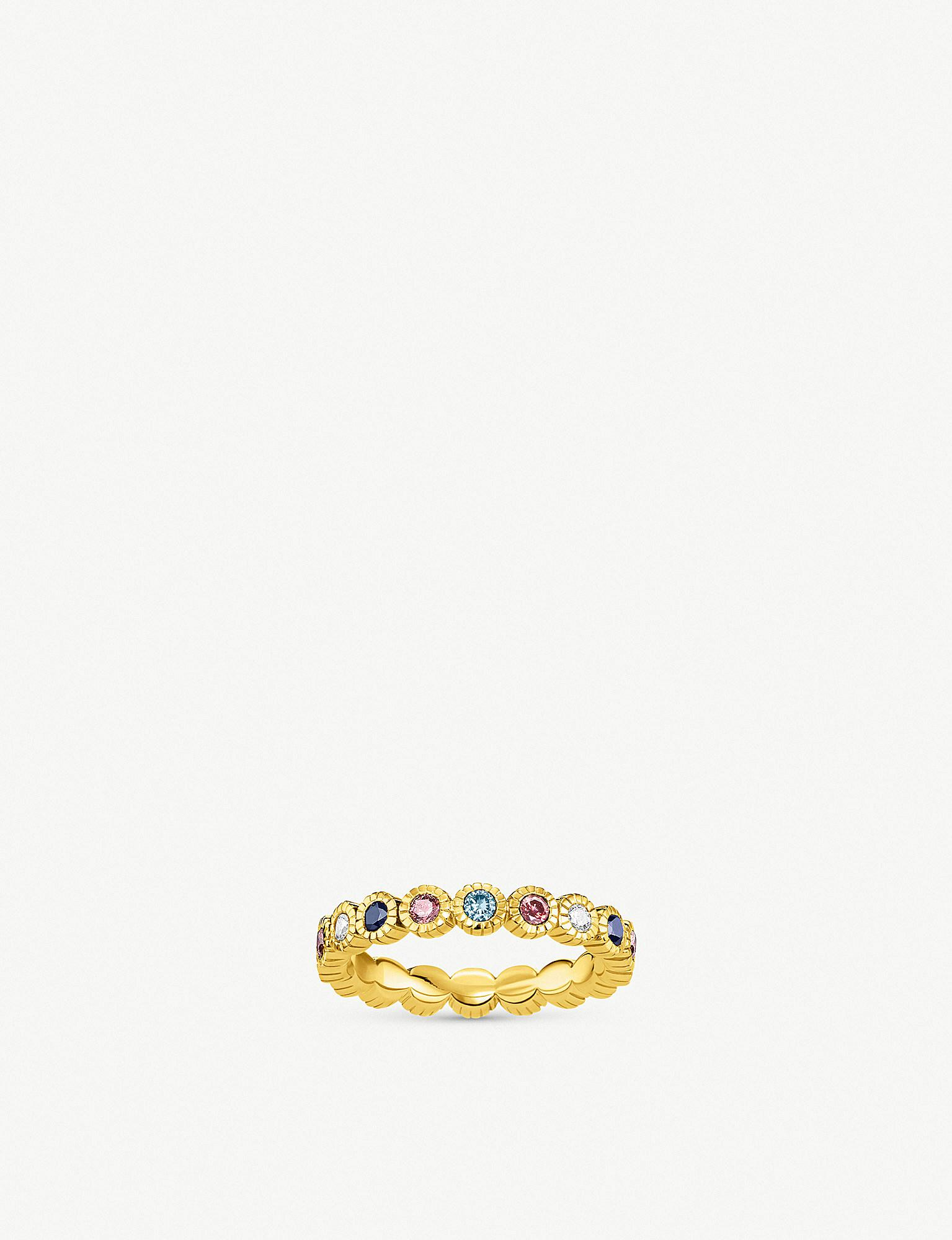 308979f5a Thomas Sabo. Women's Metallic Kingdom Of Dreams 18ct Yellow Gold Plated  Silver Royalty Eternity Ring