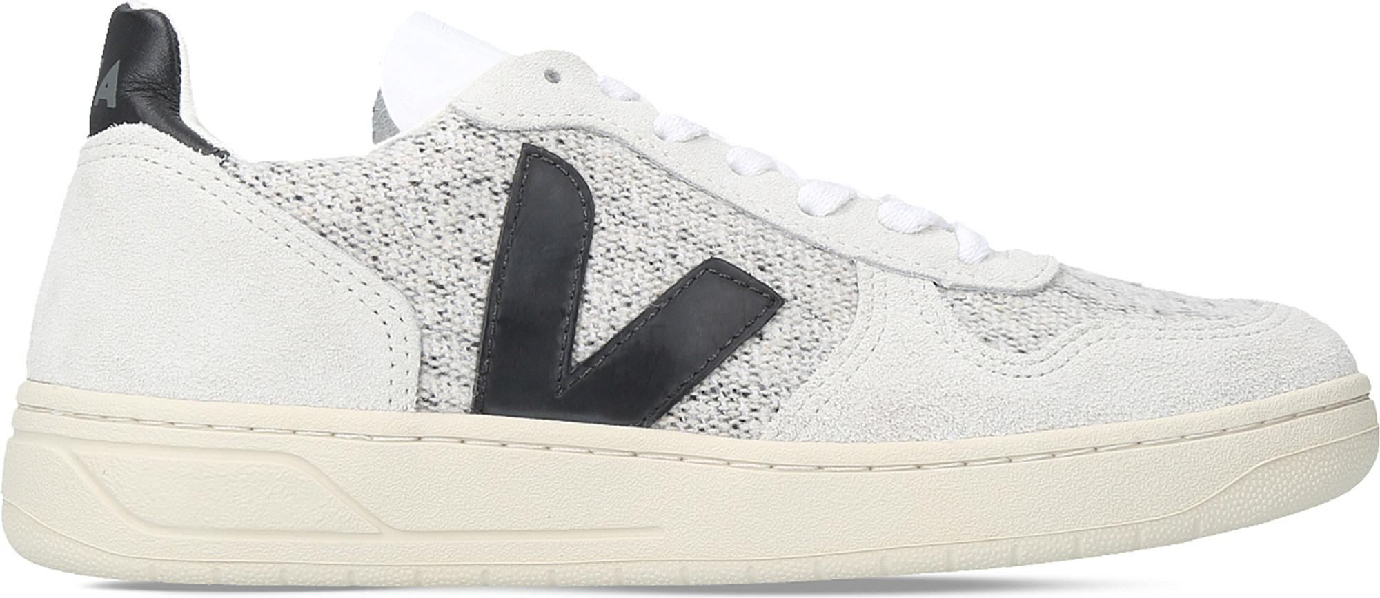 Veja V10 Flannel And Suede Trainers in