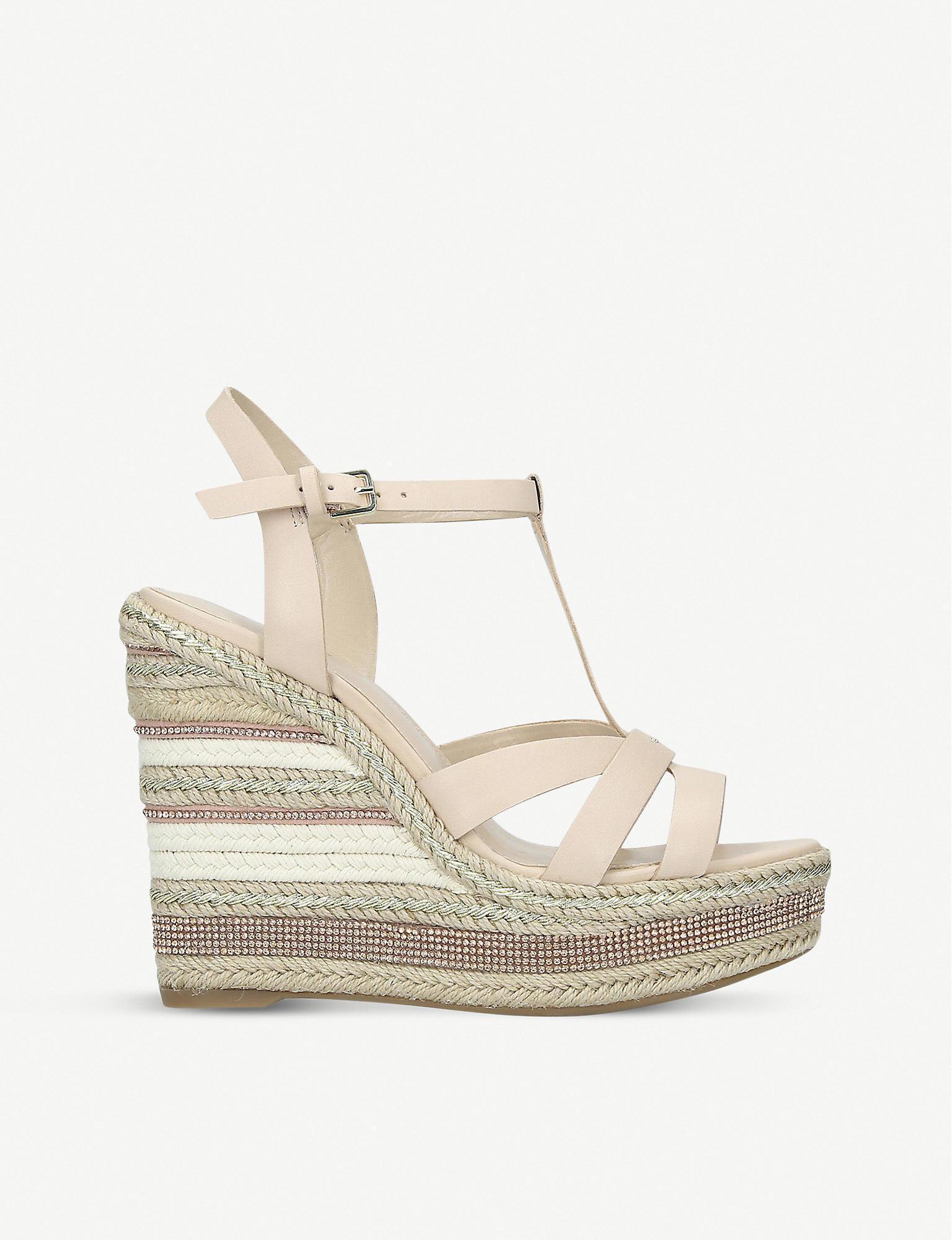ALDO Nydaycia Leather Wedge Sandals - Lyst