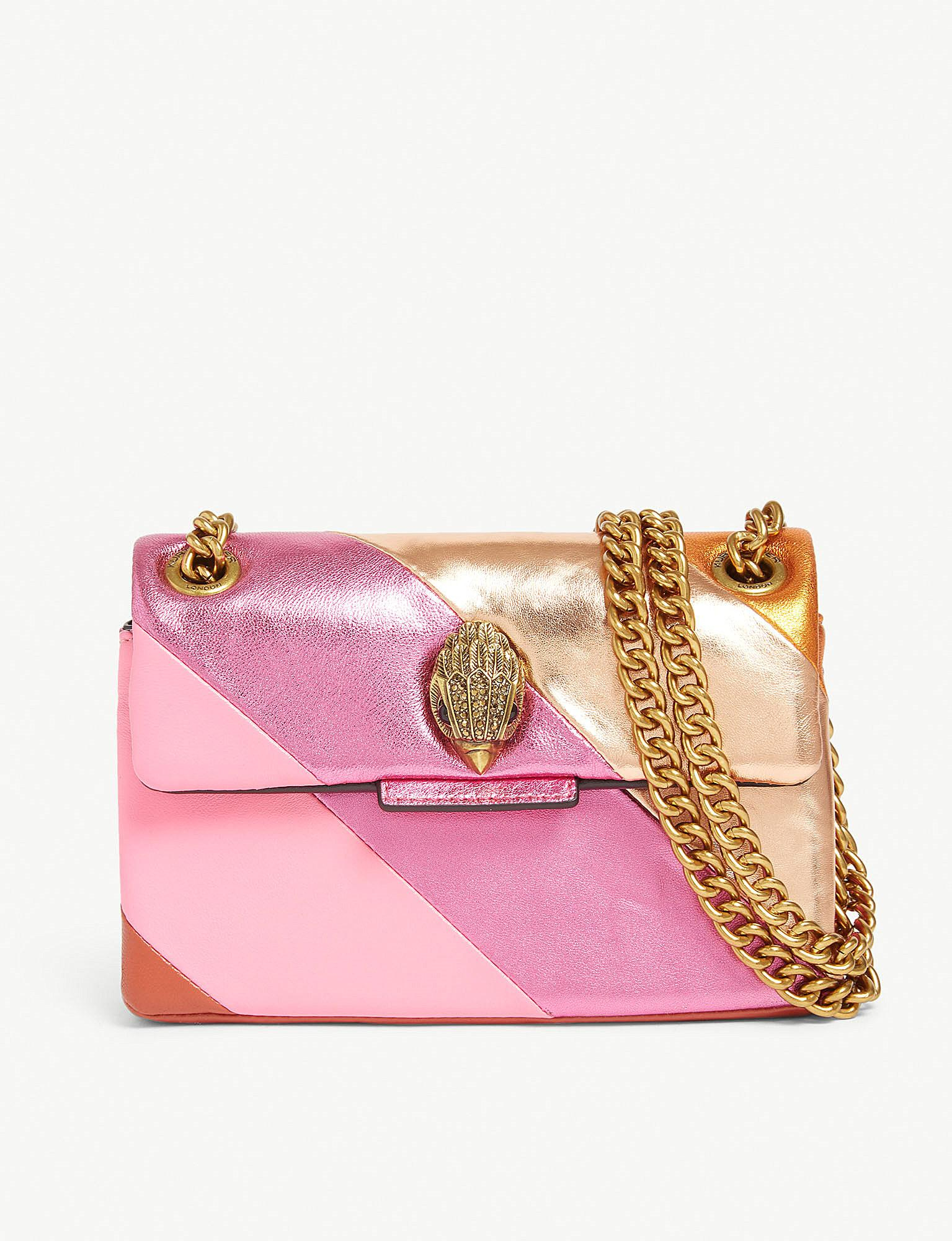 Kurt Geiger Mini Kensington S Leather Shoulder Bag in Pink - Lyst 5c52813c685d4