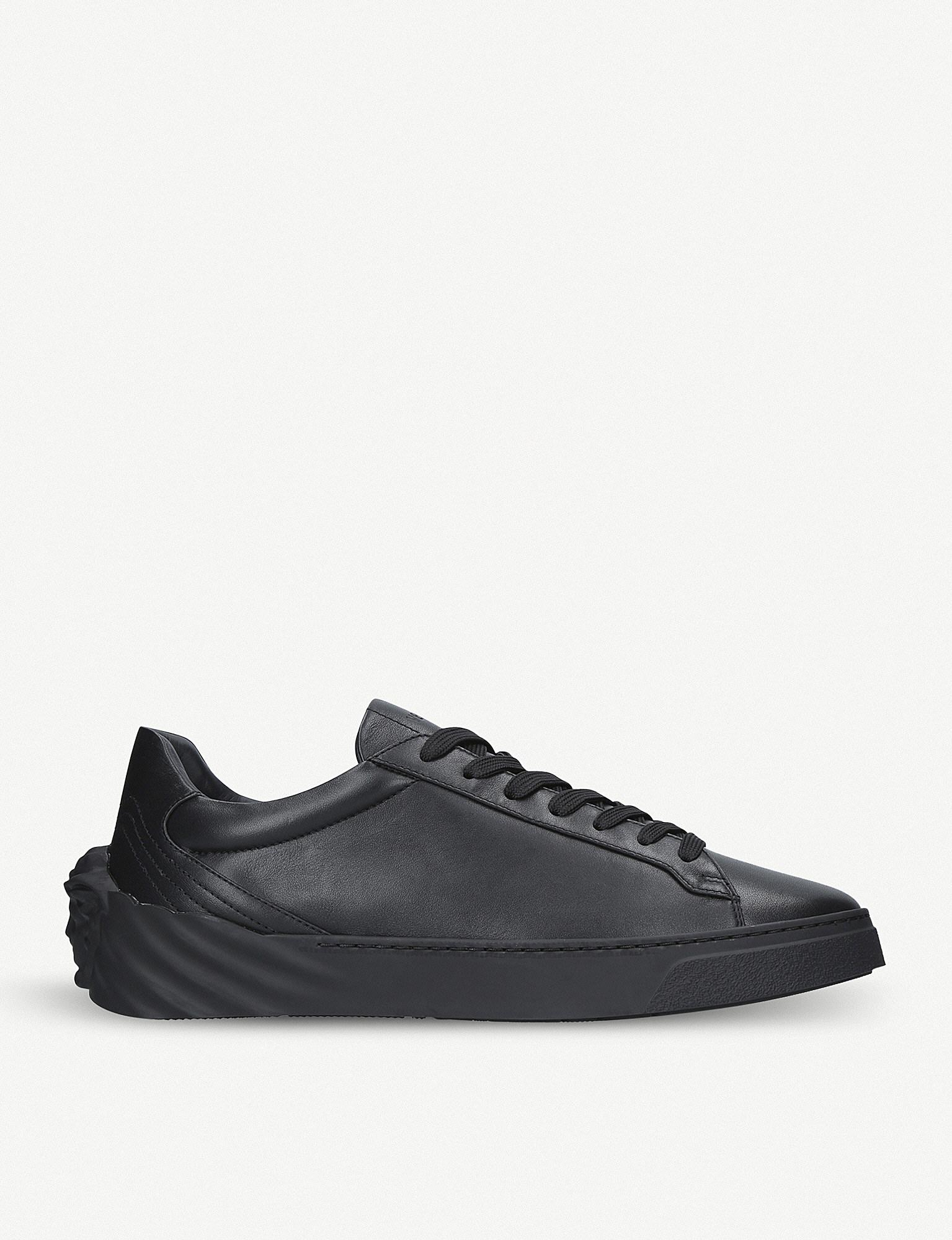 Versace Back Medusa Leather Trainers in