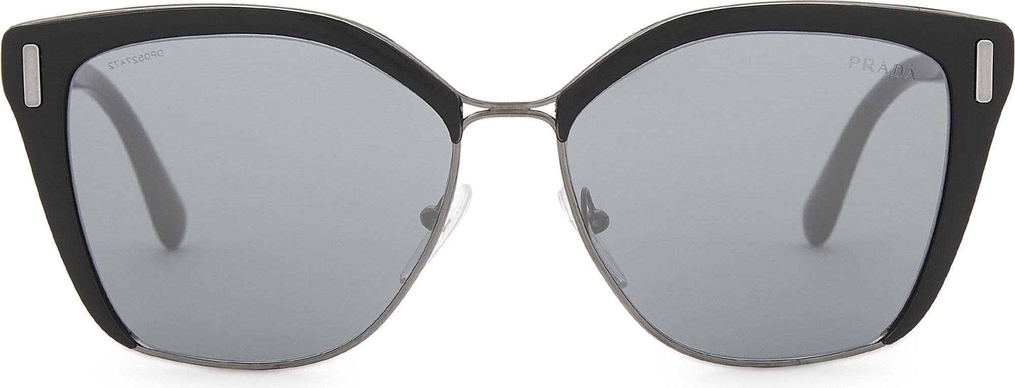 a7fdf9af29 Lyst - Prada Womens Silver Pr56ts Square-frame Sunglasses