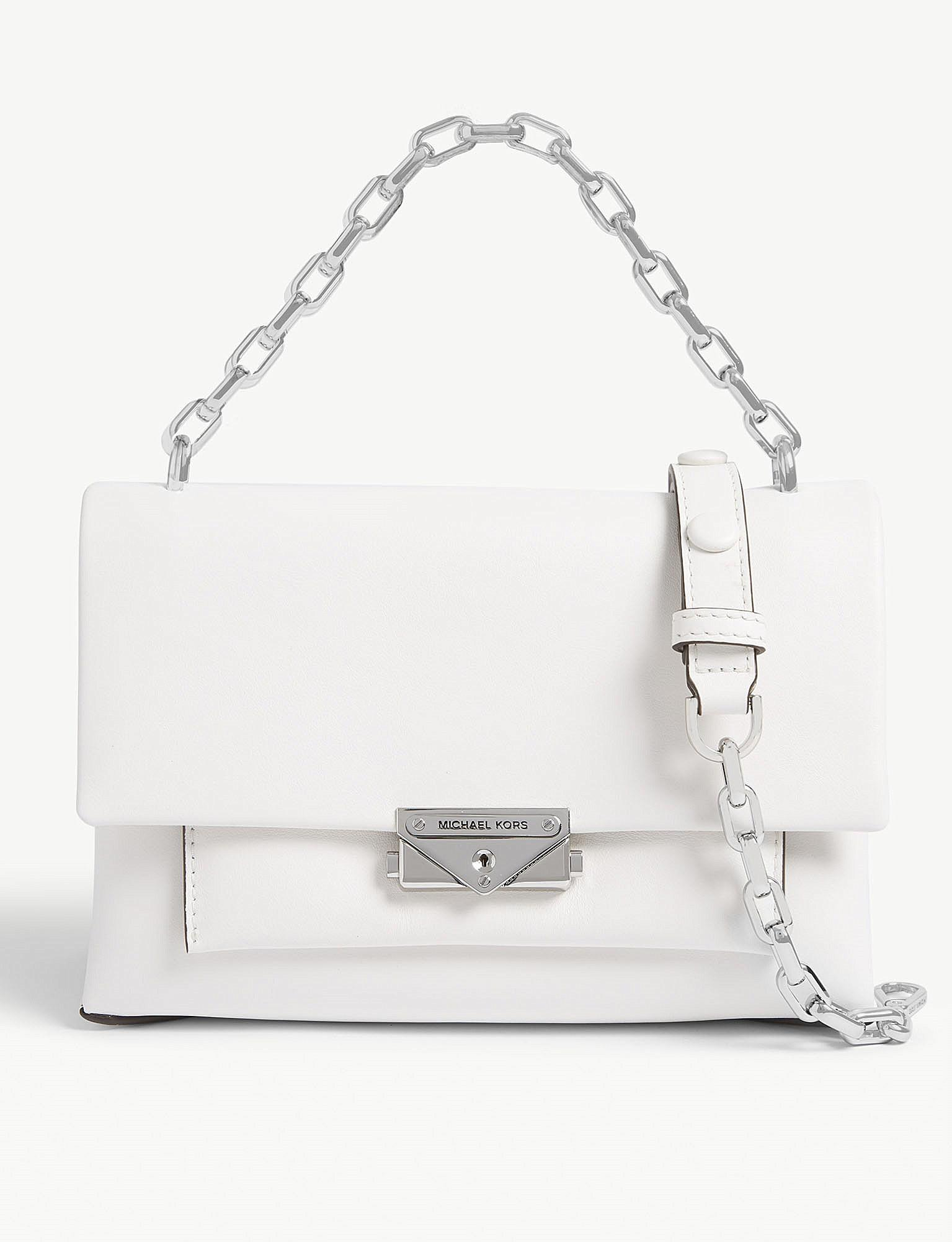 2fcbbabe6d49 MICHAEL Michael Kors Cece Medium Leather Shoulder Bag in White - Lyst