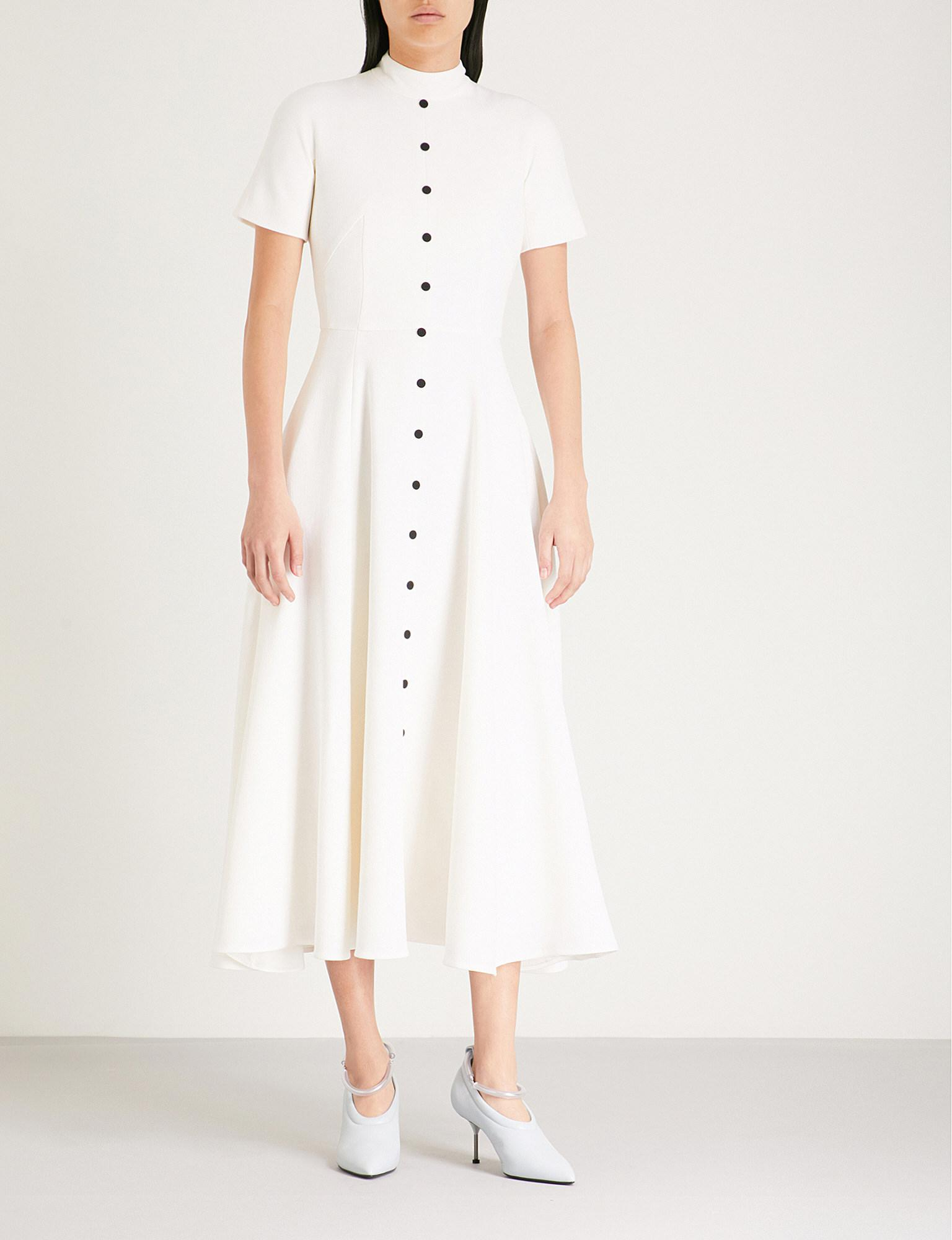 Camila Wool-crepe Midi Dress - Cream Emilia Wickstead Official Site Countdown Package For Sale Newest Cheap Price Exclusive For Sale Cheap Price Wholesale rQIahRVP
