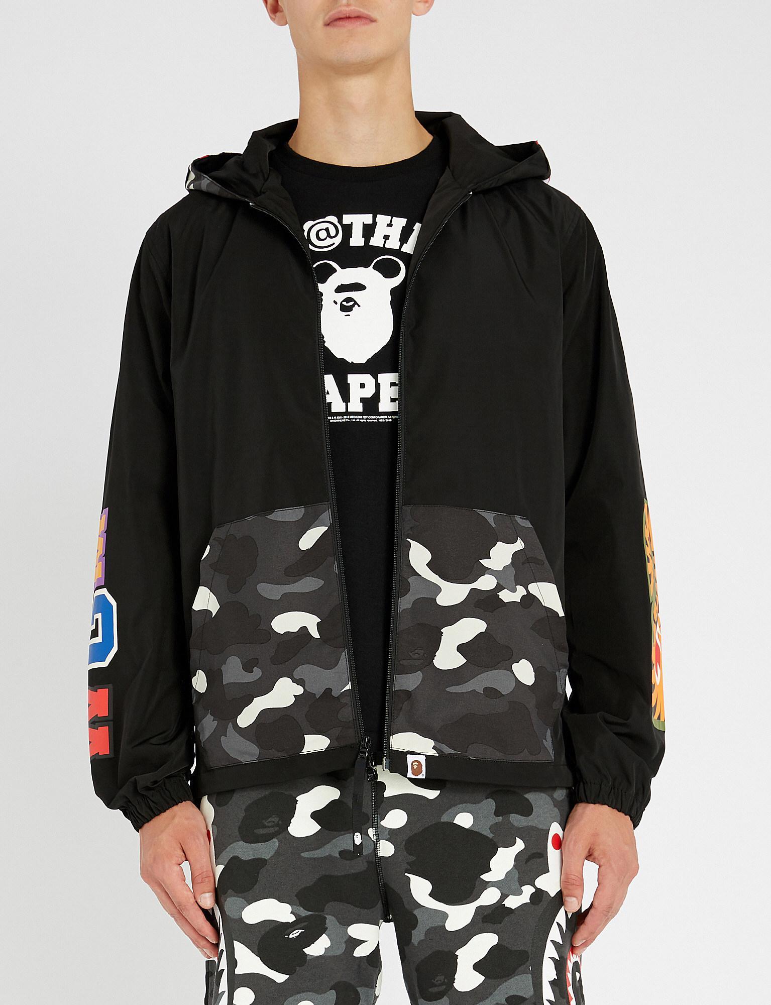 63445f2d26e A Bathing Ape Camo-shark Shell Jacket in Black for Men - Lyst