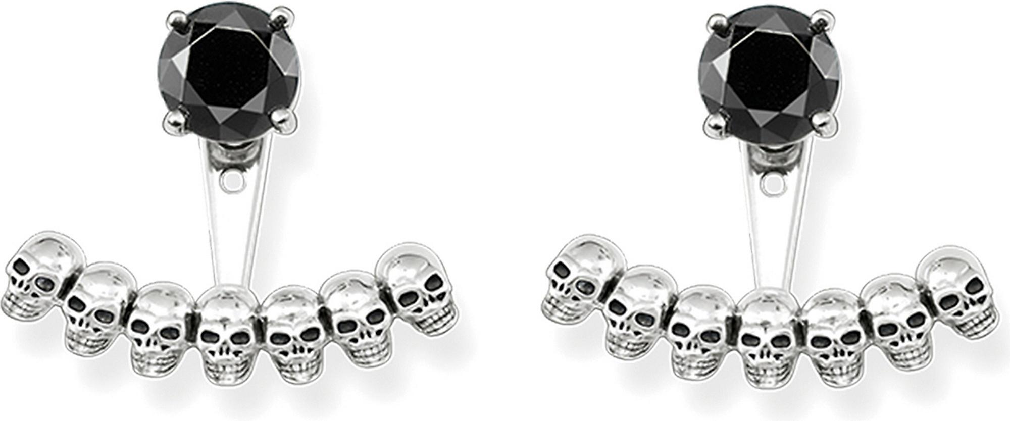 6c9aef1aa Thomas Sabo Sterling Silver Skull And Black Onyx Ear Jackets in ...