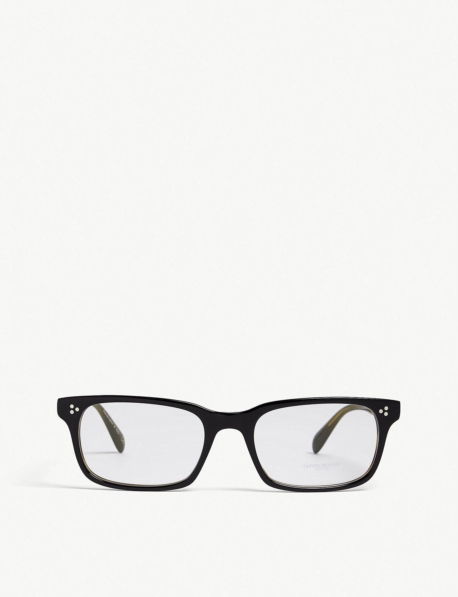 5788abd9a0 Oliver Peoples Cavalon Rectangle Glasses in Black - Save ...