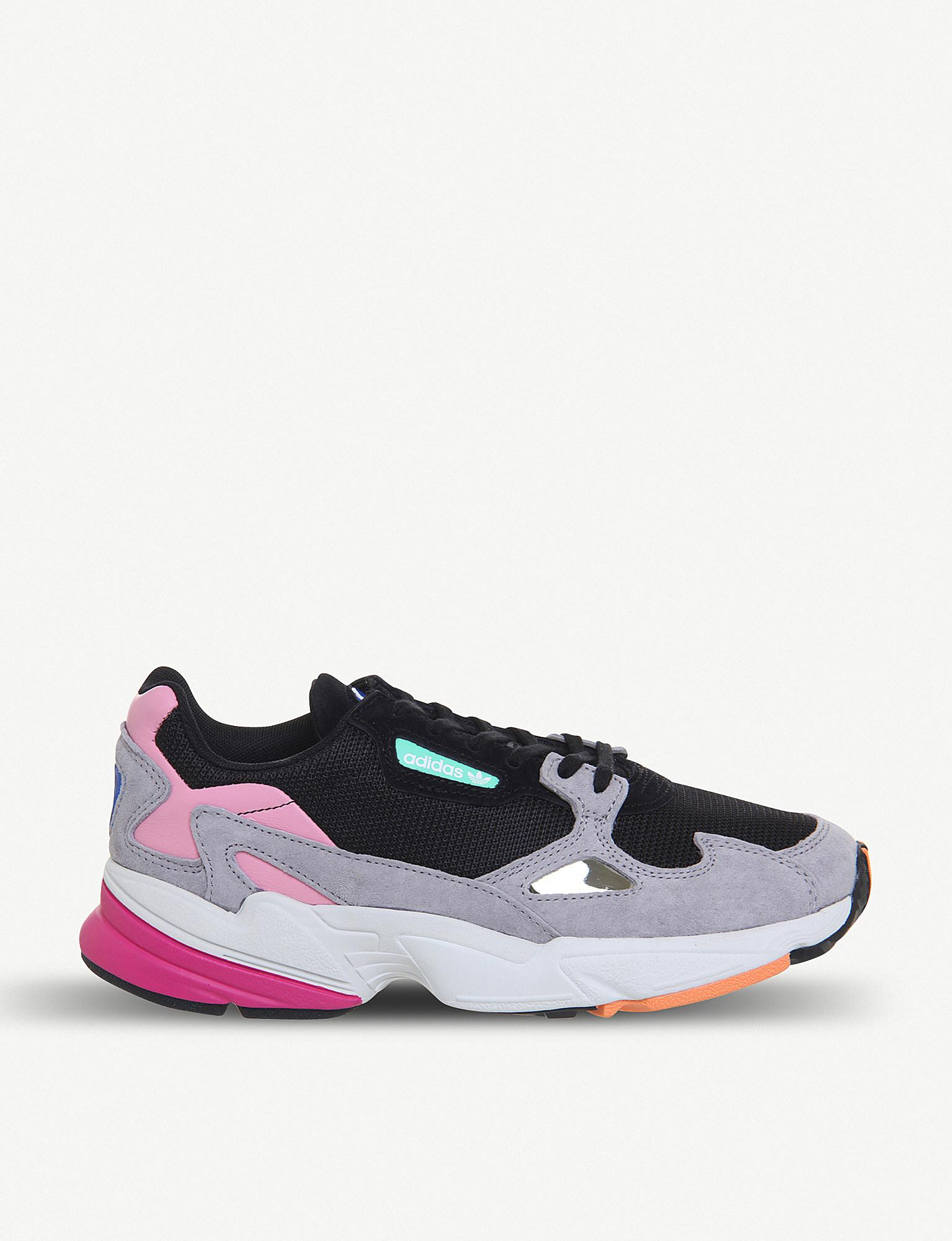 adidas Falcon Suede And Mesh Trainers