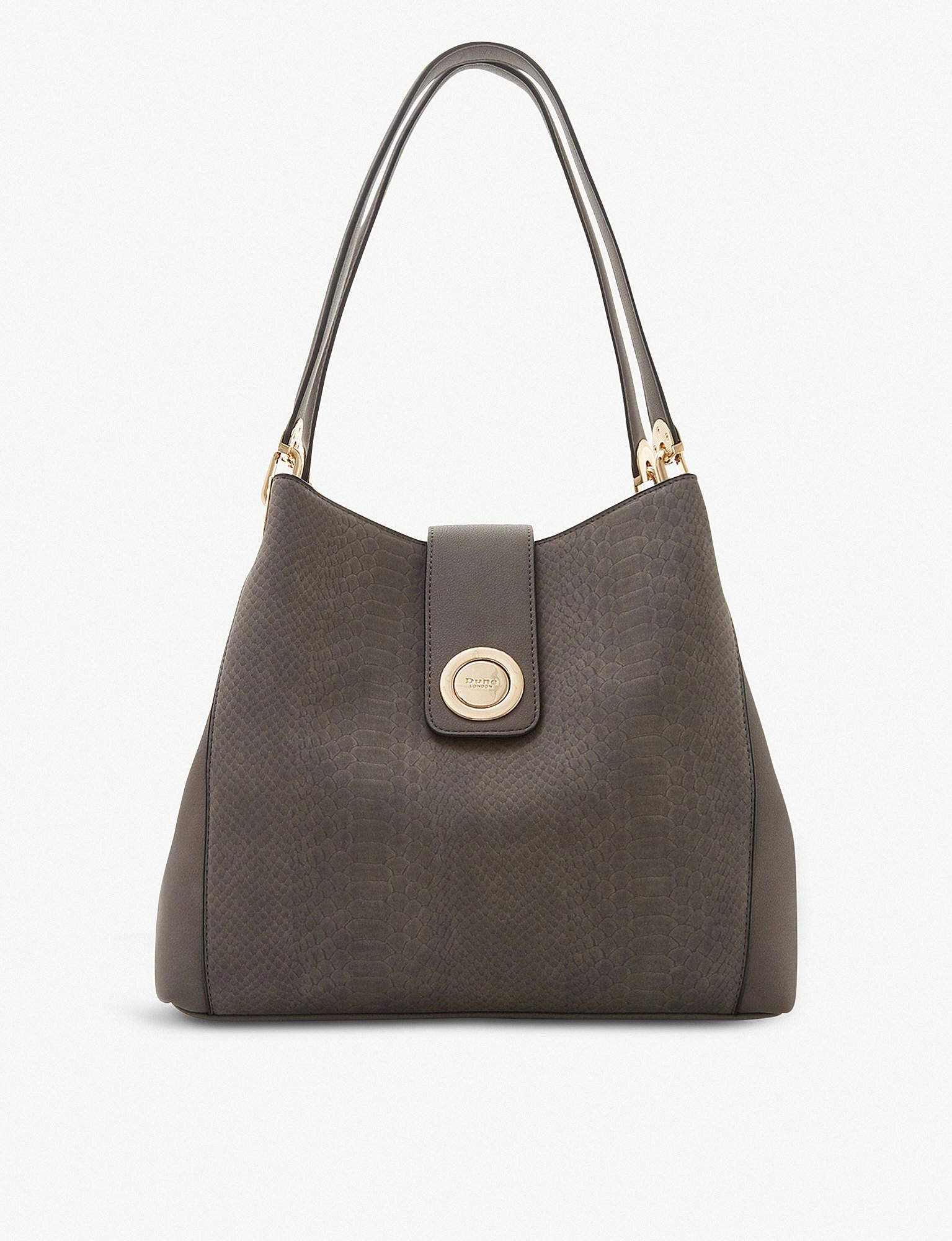 fdc7d8746b63d Dune Deannee Colour Block Hobo Shoulder Bag in Gray - Lyst