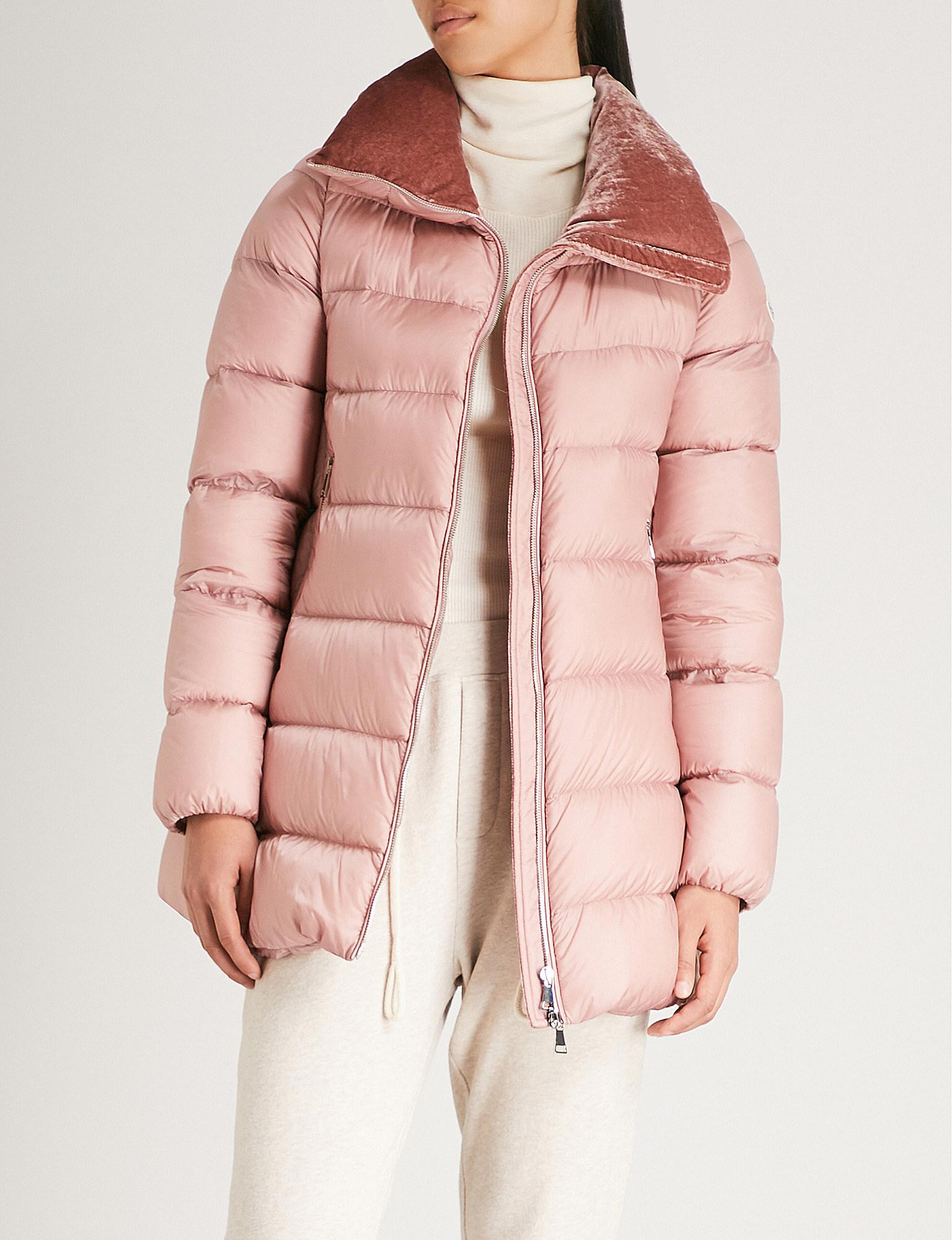 076cd2fe7 Moncler Pink Torcol Quilted Shell-down Coat