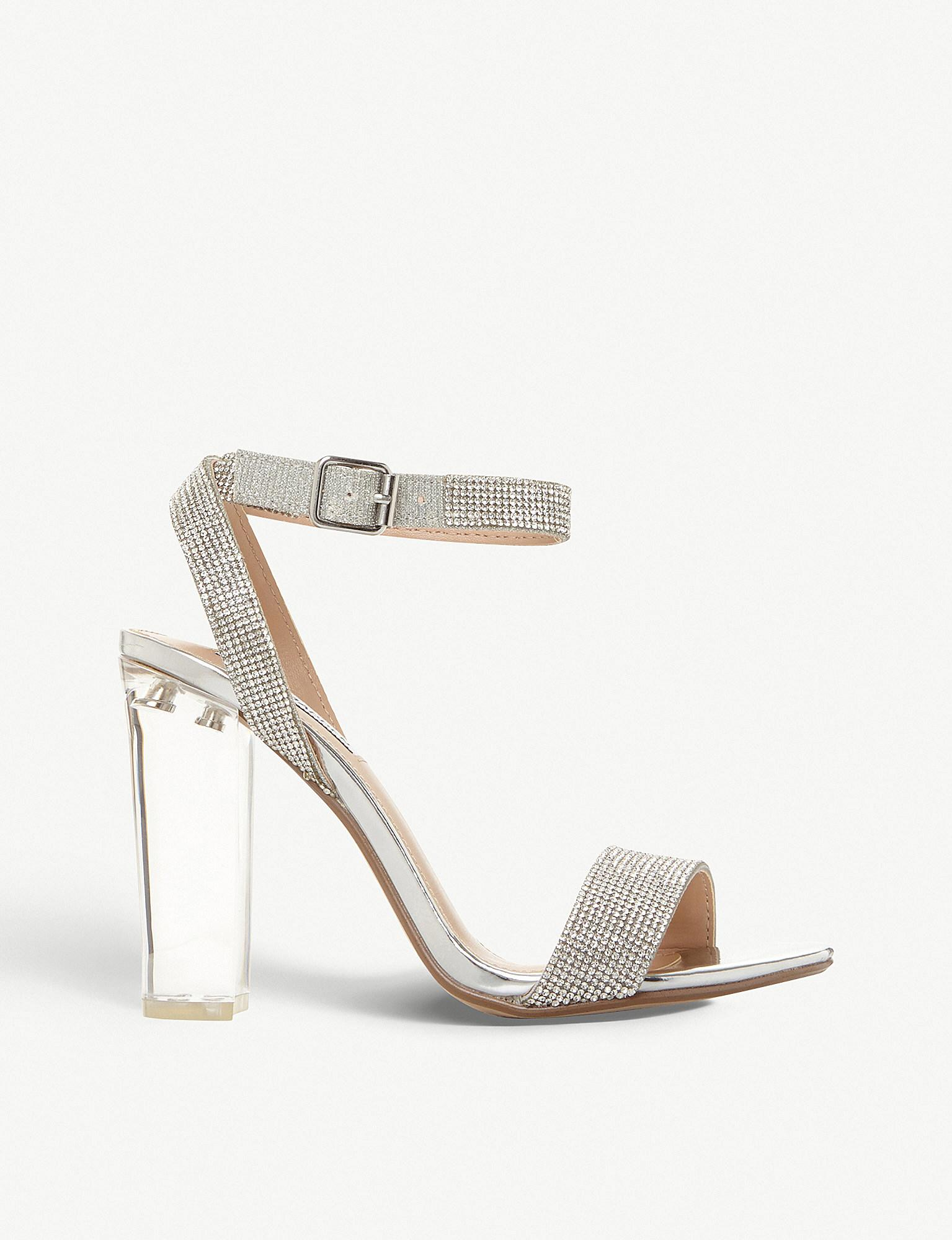 cb255209c32 Steve Madden. Women s Metallic Crysler Crystal-embellished Block Heel  Sandals