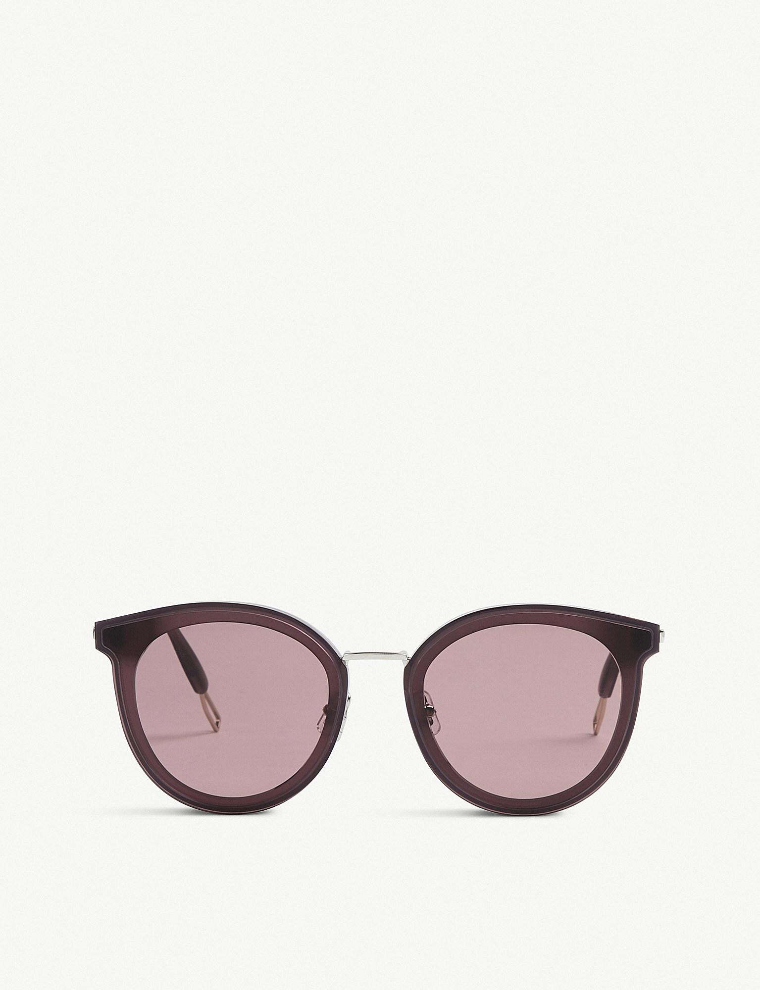 914740574dd Lyst - Gentle Monster Merlynn Wc1 Tinted Round-frame Sunglasses in ...