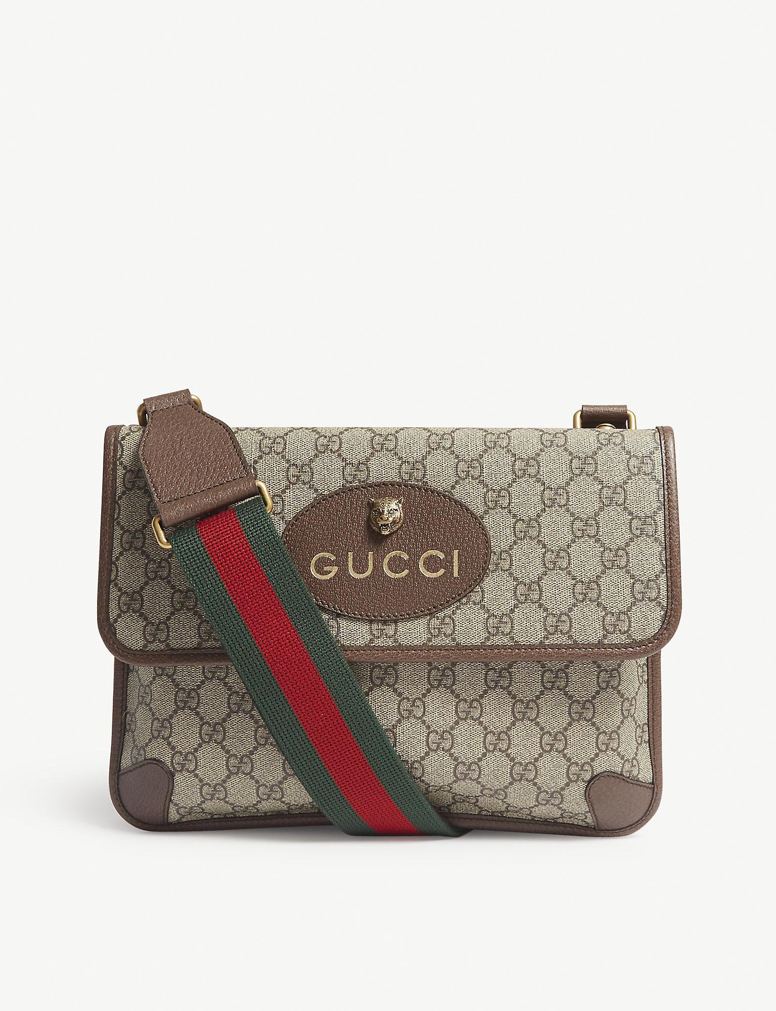 bdfe0c1807a Lyst - Gucci Vintage Supreme Canvas Shoulder Bag in Natural