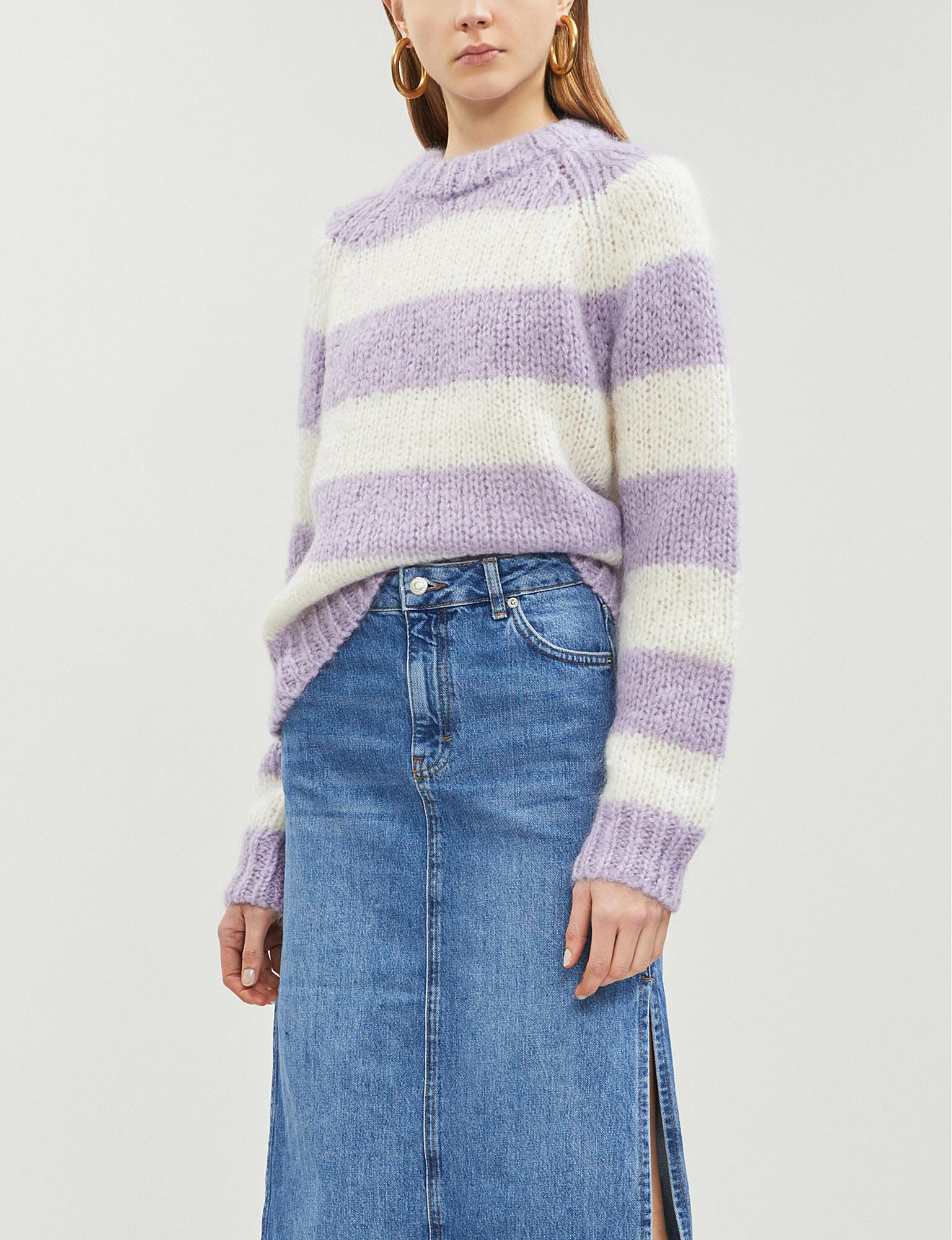 9ce7a04912a Samsøe   Samsøe. Women s Simone Striped Mohair And Wool-blend Jumper