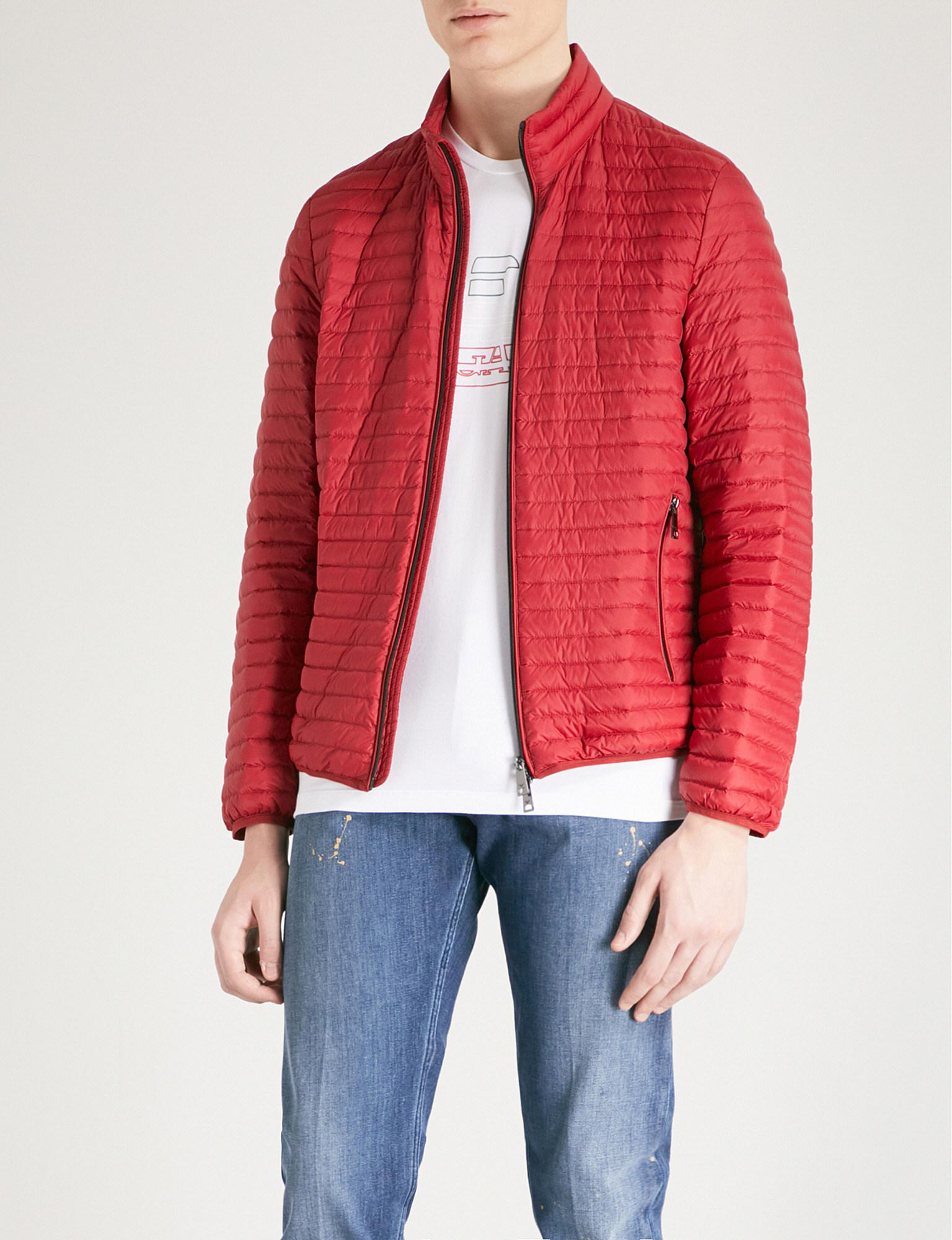 a06a9c77 Emporio Armani Quilted Shell-down Jacket in Red for Men - Lyst
