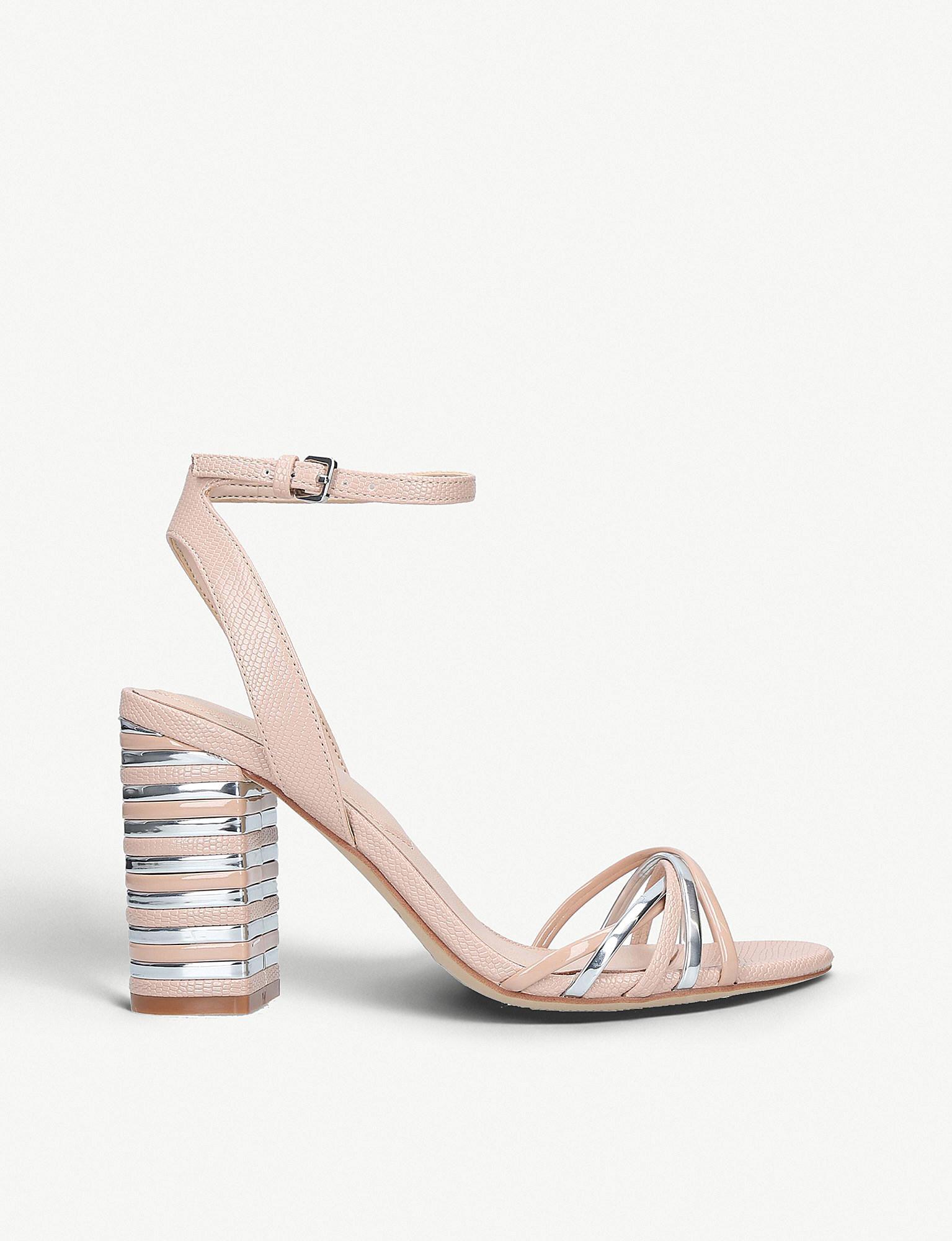 0a05d8a91a4a ALDO. Women s Taledia Metallic-detail Patent Heeled Sandals
