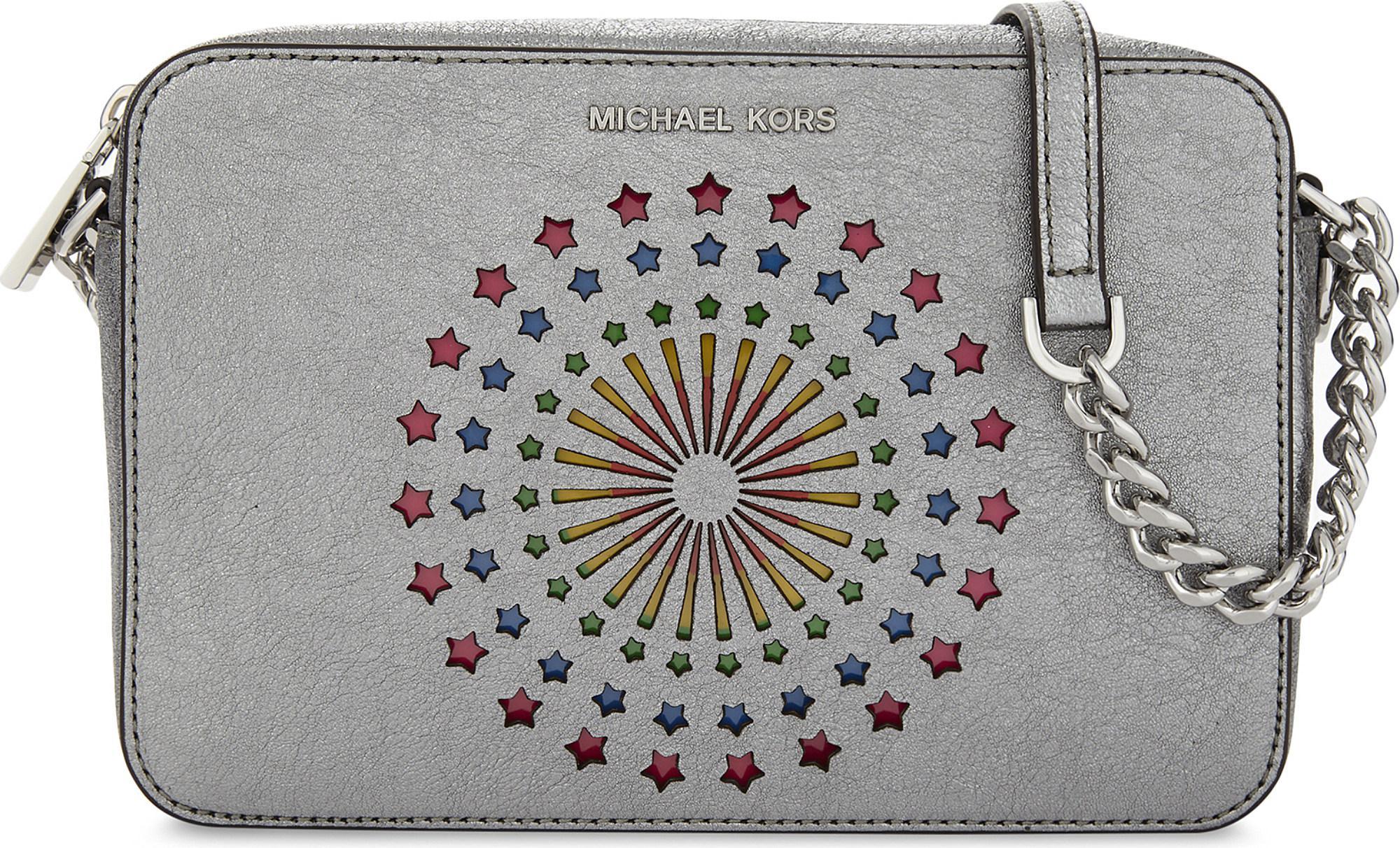 7dd551994731 MICHAEL Michael Kors Ginny Metallic Leather Light-up Cross-body Bag ...