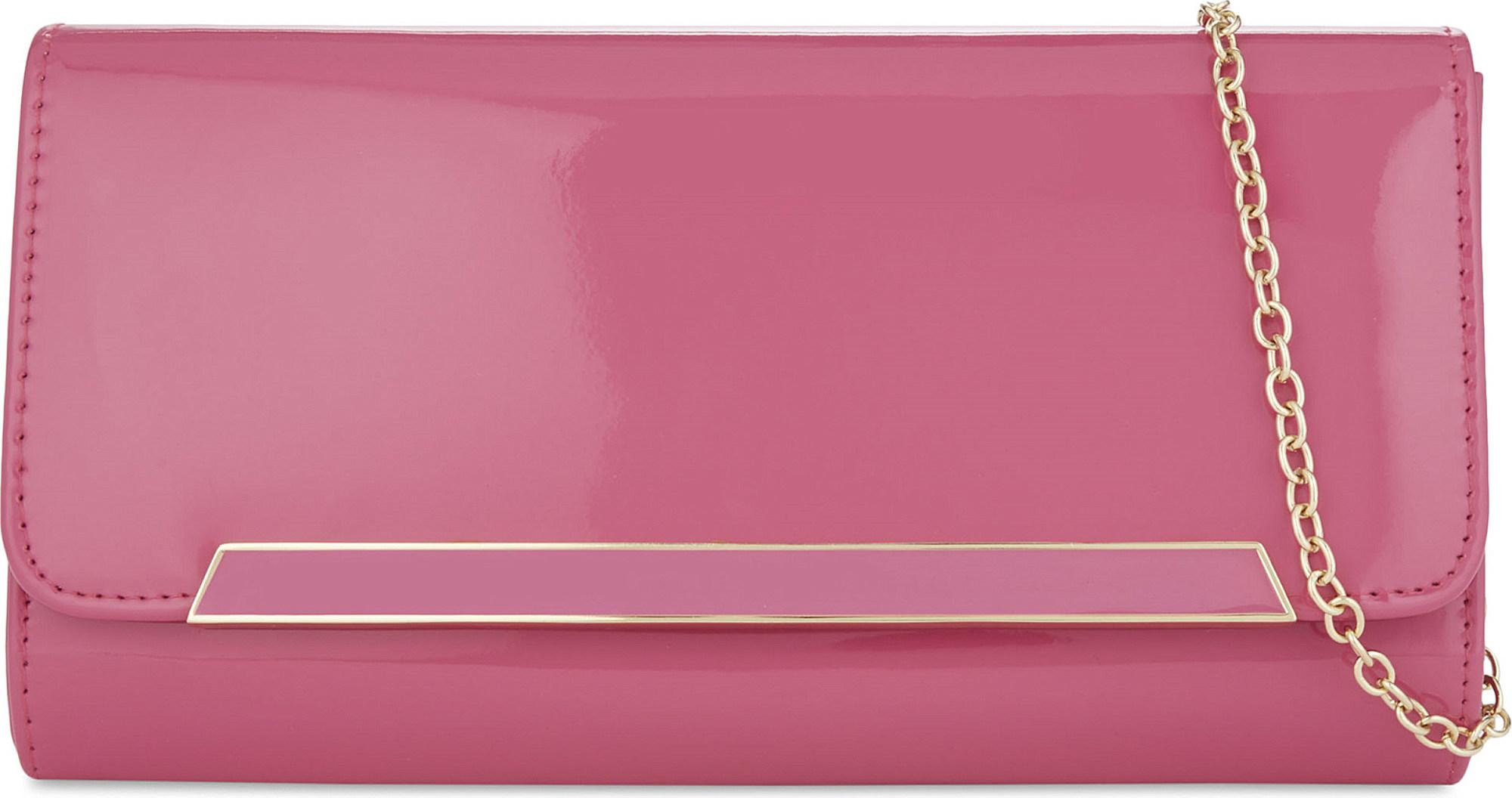 be8158bf4ec Lyst - ALDO Jeriecien Patent Clutch in Pink