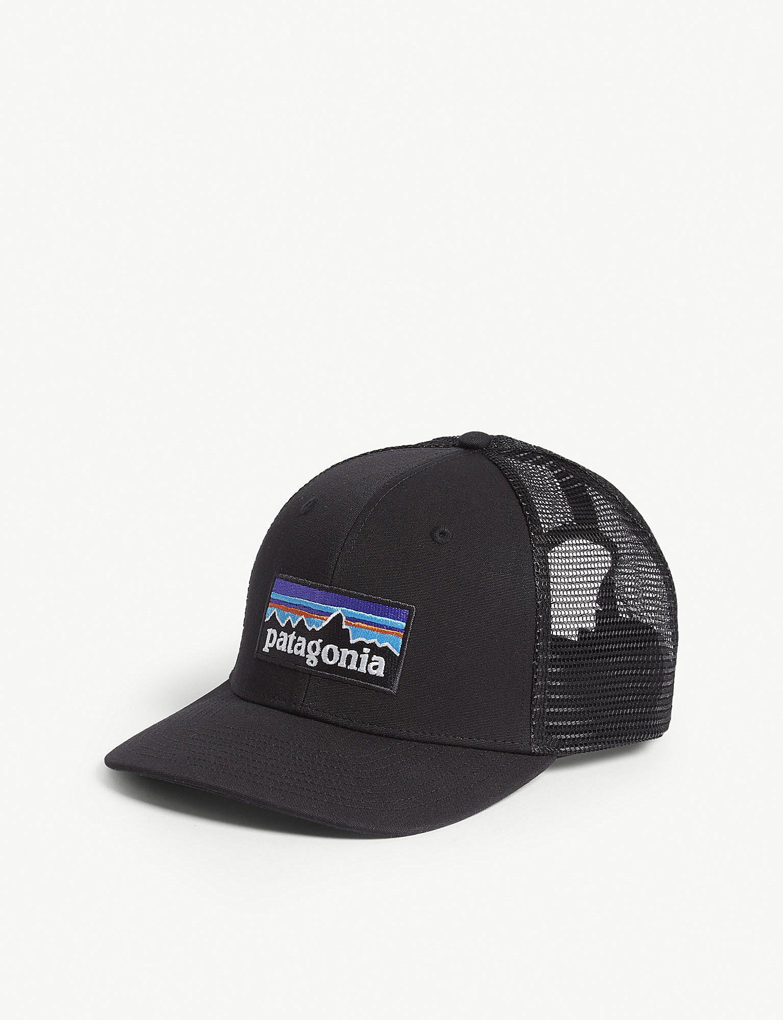 ceed229020c Patagonia - Black P-6 Logo Trucker Cap for Men - Lyst. View fullscreen