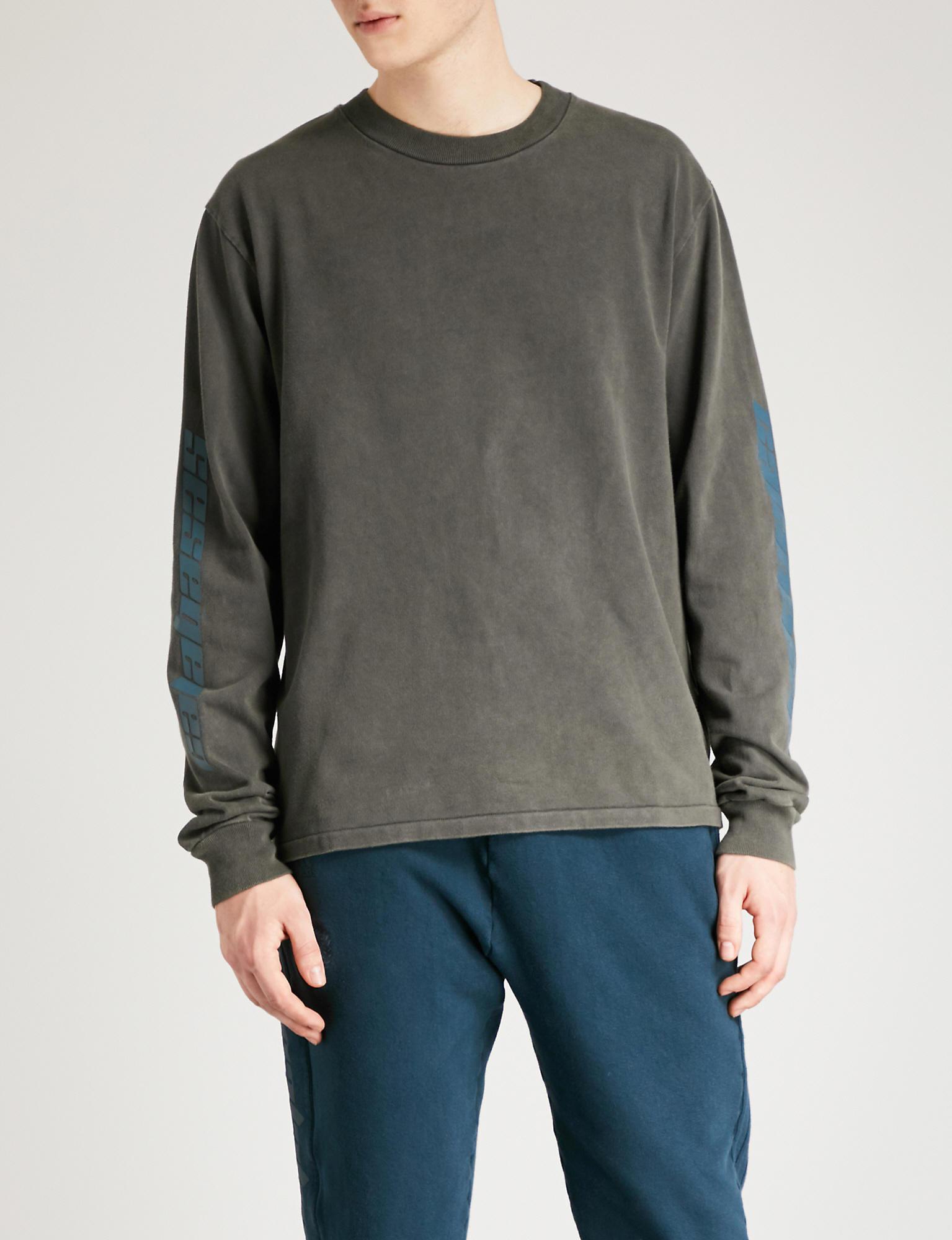d0a035ce2 Lyst - Yeezy Season 6 Calabasas-print Cotton-jersey Sweatshirt in ...