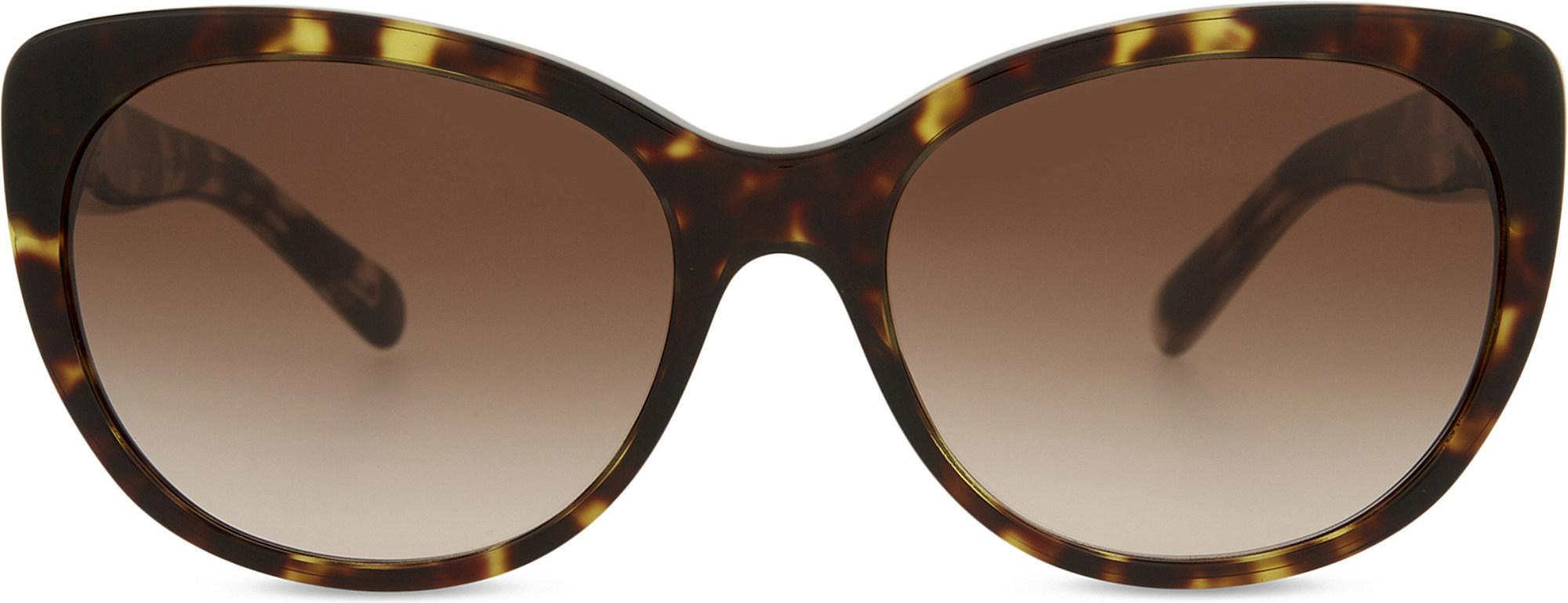 bc6620fa1005 Burberry Be4224 Cat-eye Tortoiseshell Sunglasses in Brown - Lyst