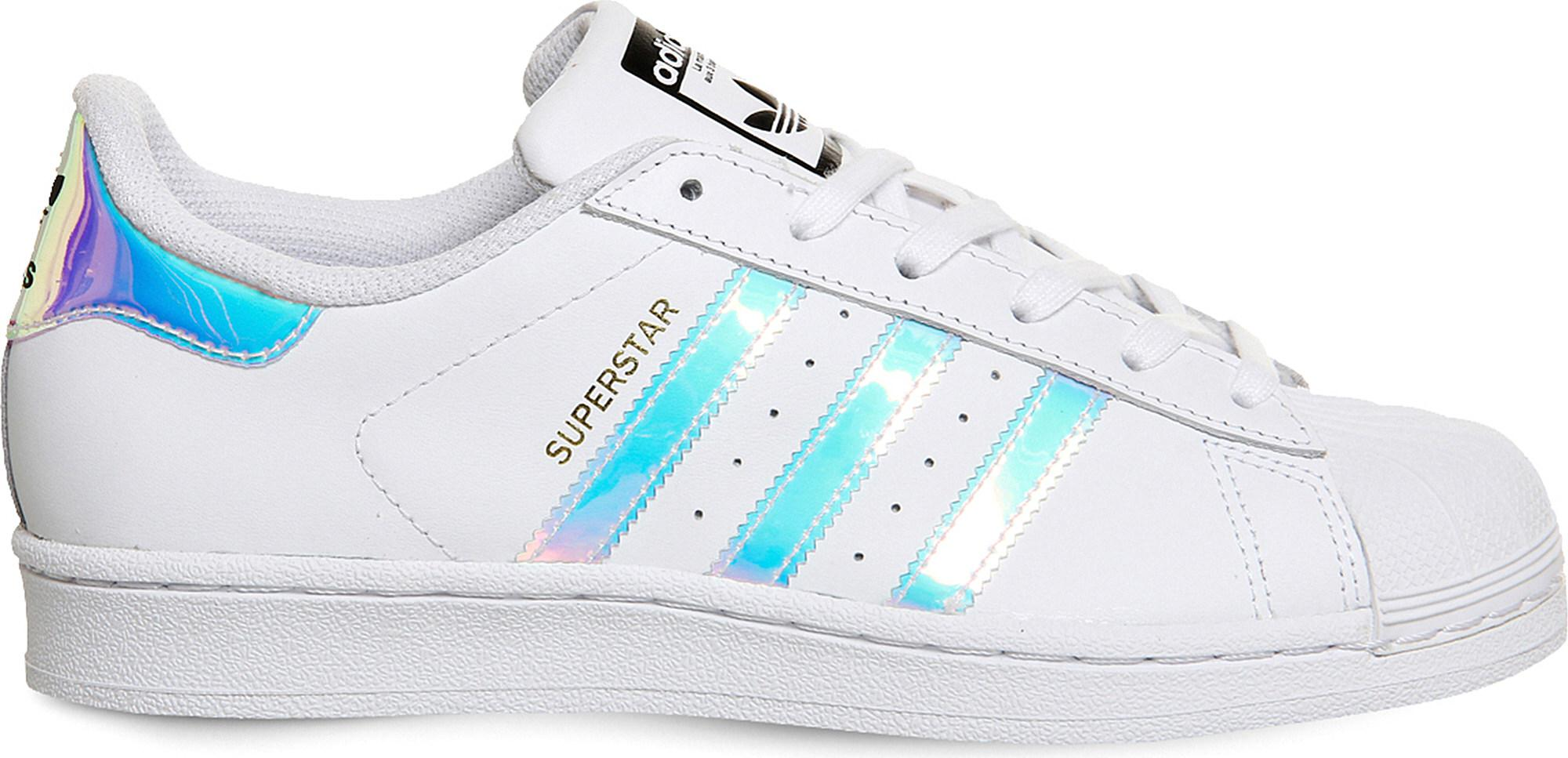 watch 4b5d1 cd7c8 Lyst - adidas Superstar Gs Leather Trainers in White