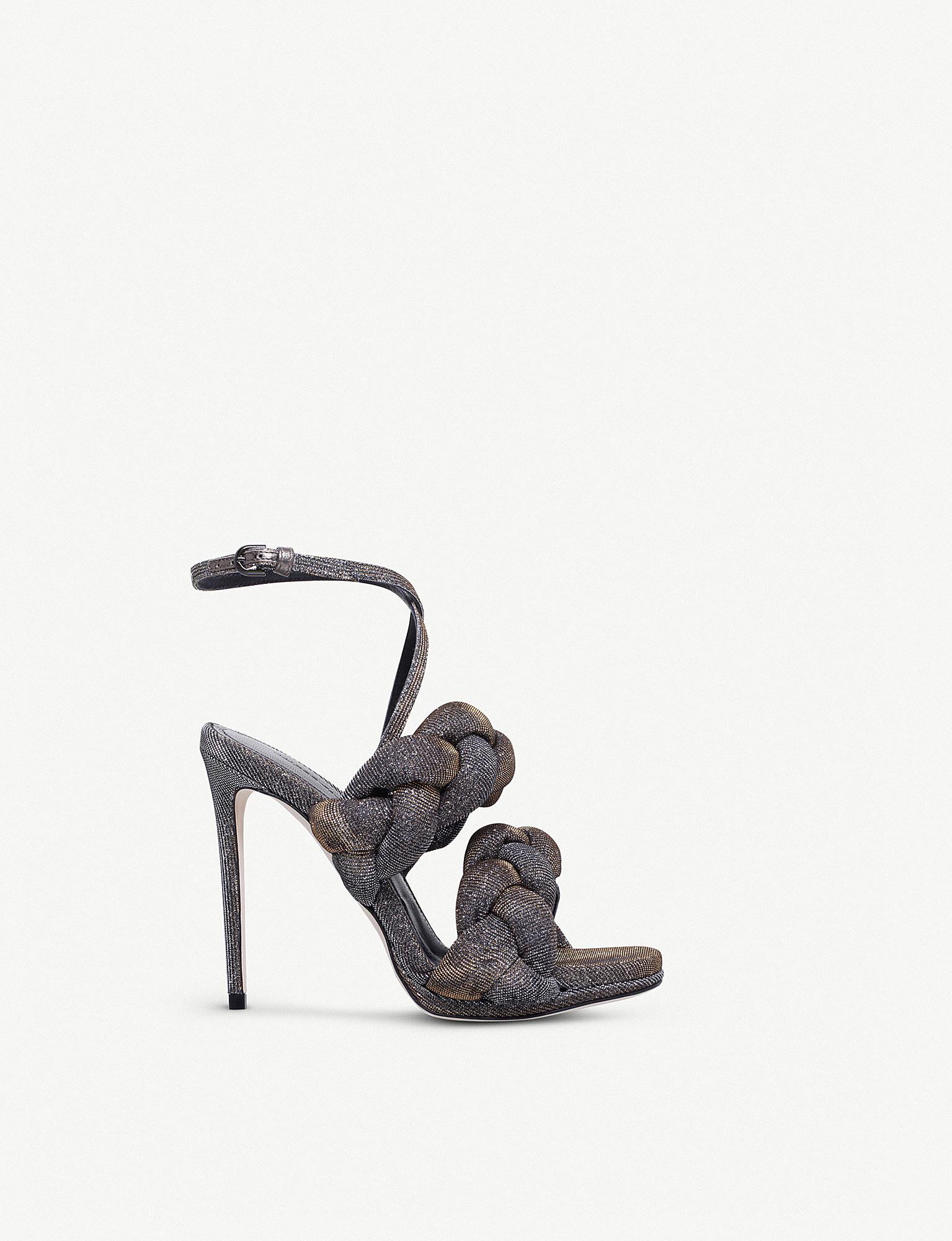 Braided Textured-lamé Sandals - Metallic Marco De Vincenzo dodBRi8Yp