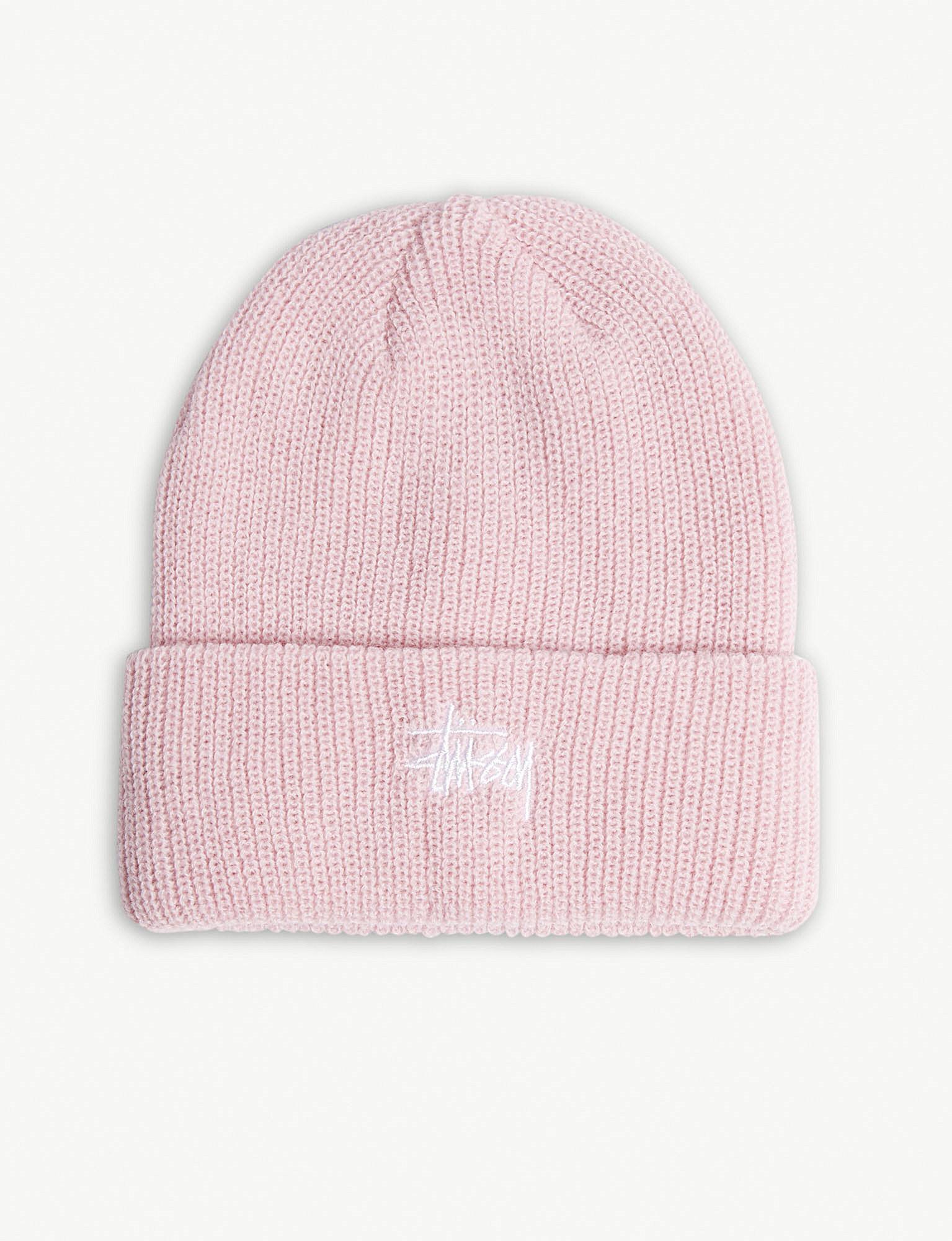 2525159c0 Stussy Pink Logo Cuff Beanie Hat