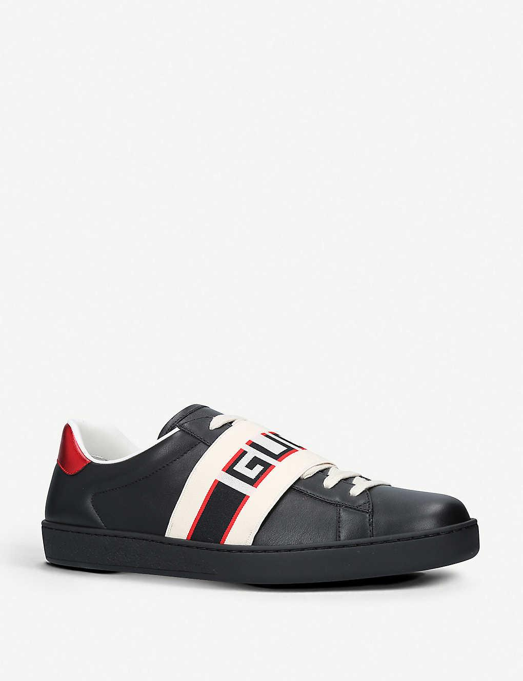 Gucci Rubber New Ace Sneaker in Black