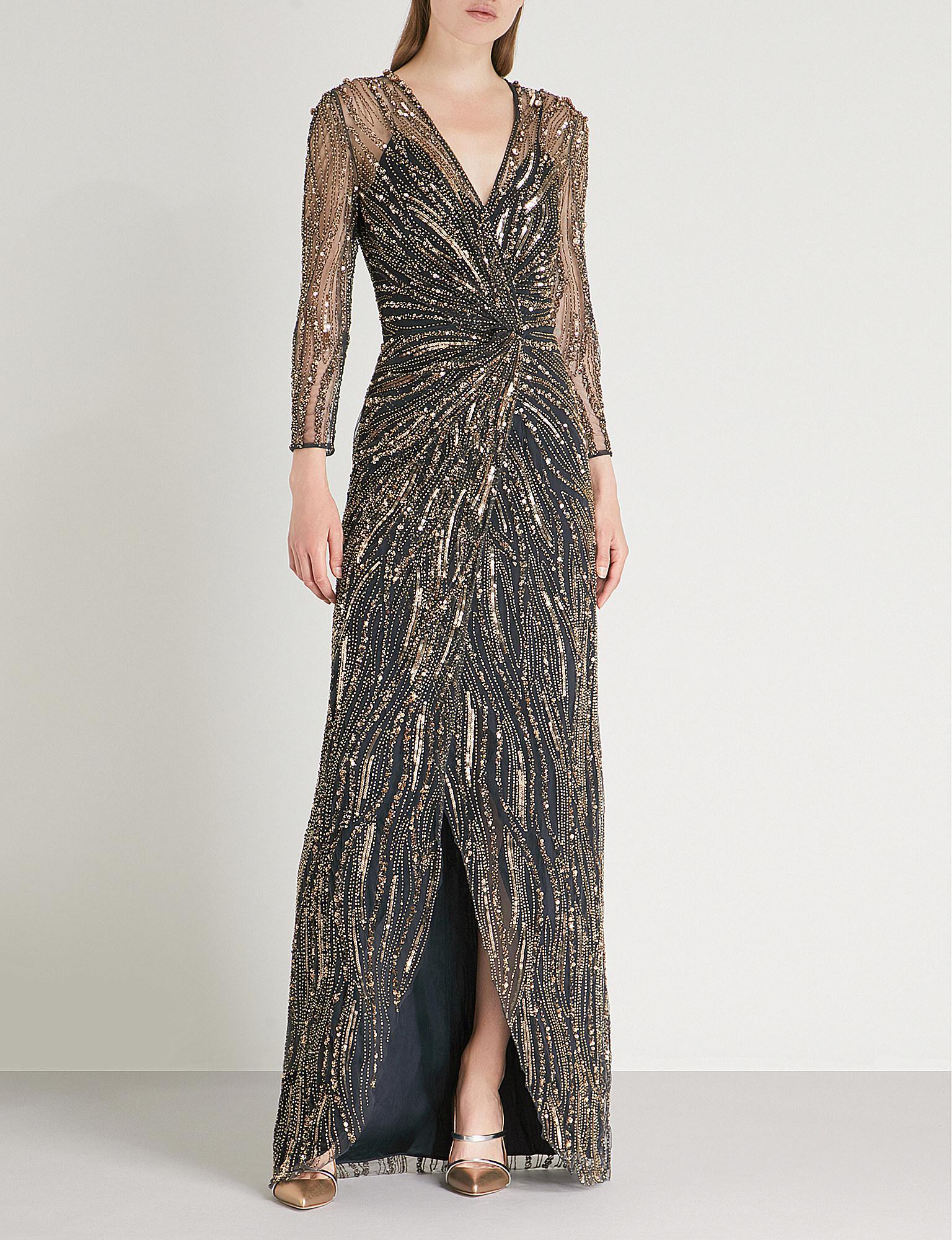 Jenny Packham Phoenix Sequin-embellished Mesh Gown - Lyst