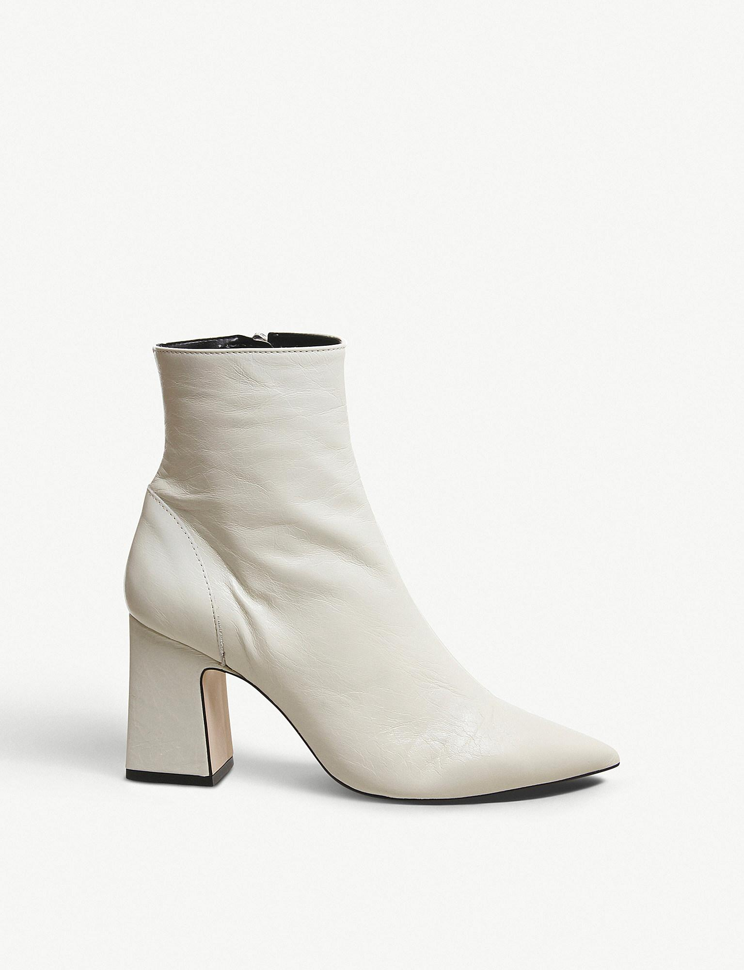 Office Alto Pointed Block-heel Leather
