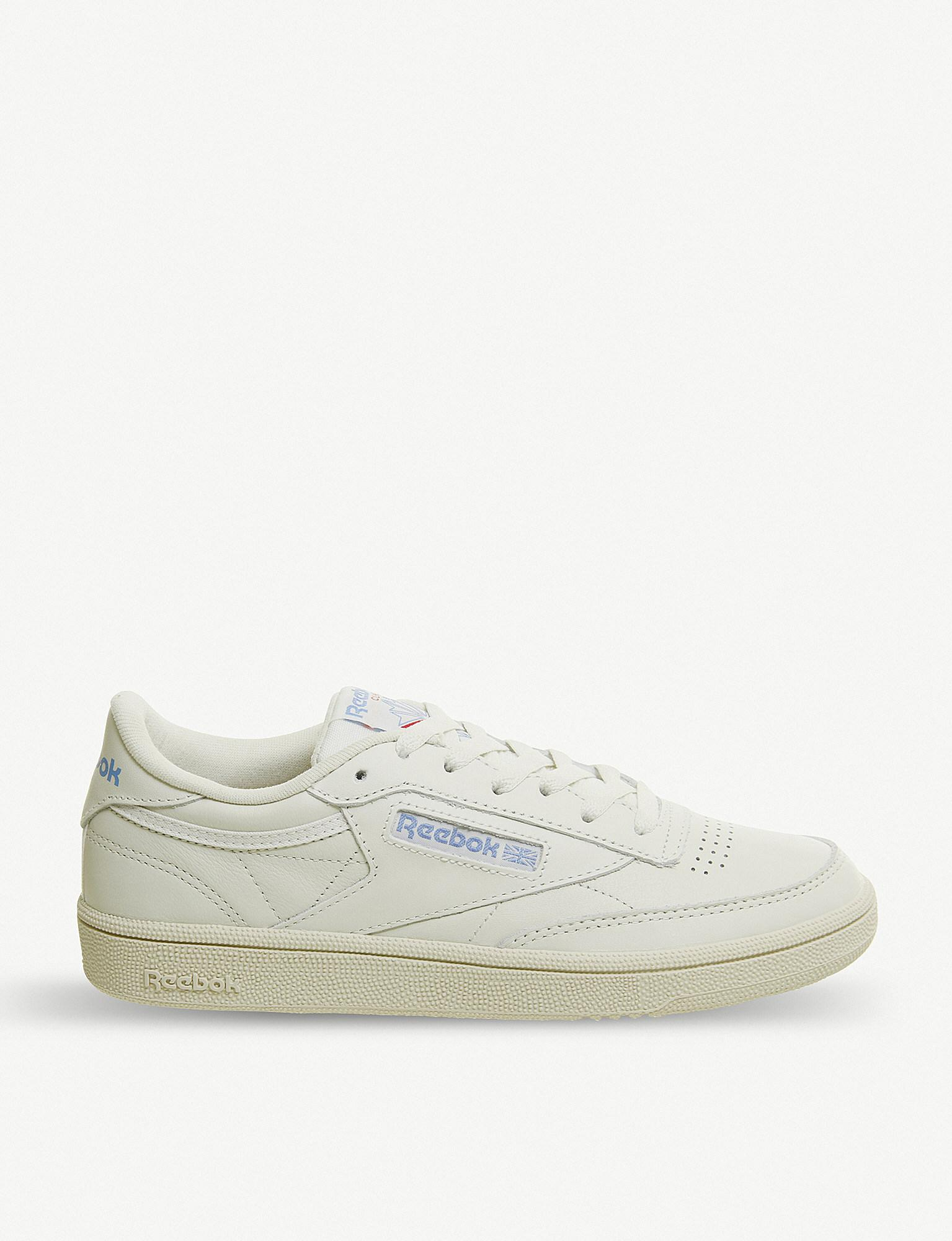 d5d251c48bb Reebok Club C 85 Leather Trainers in White - Lyst