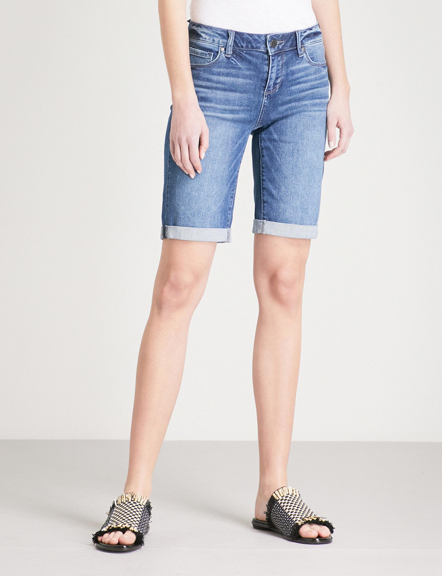 89e1b0c21df95 PAIGE Jax Slim-fit Stretch-denim Shorts in Blue - Lyst