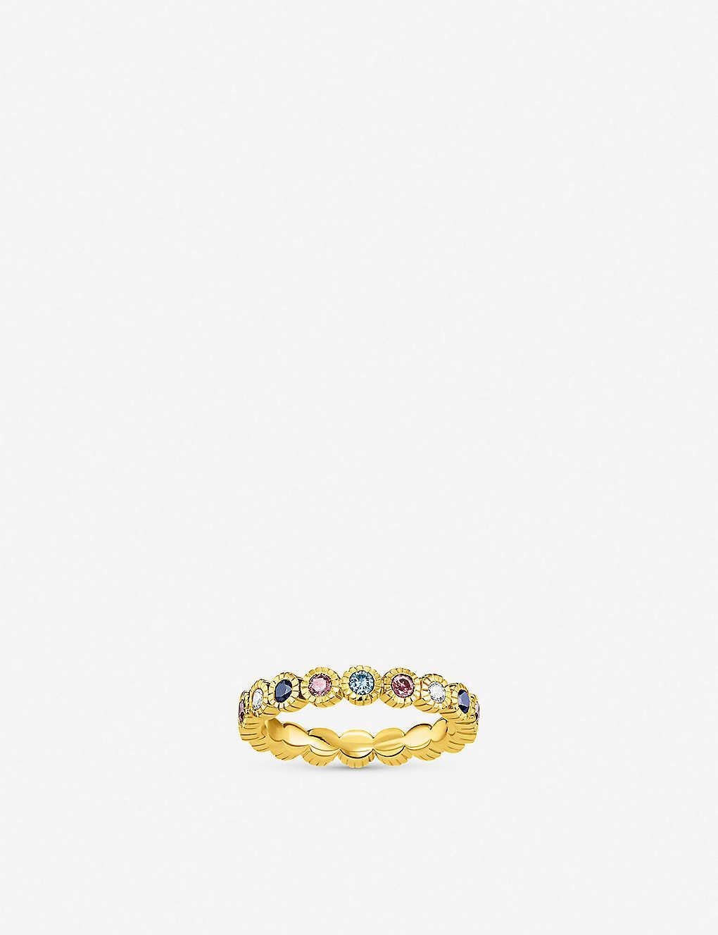 Sterling Silver Multicolor Amber Dreams Ring
