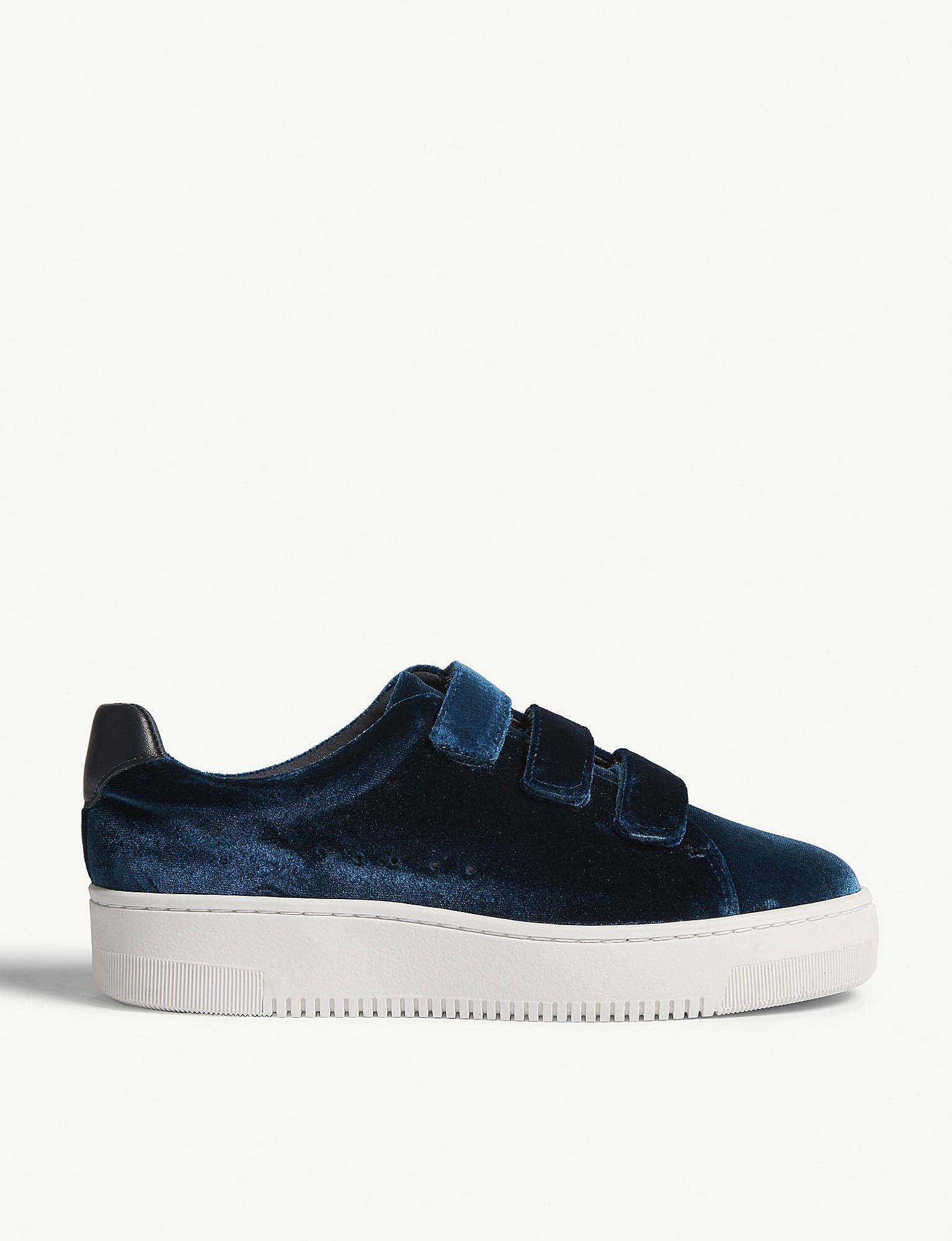 Sandro Velvet Sneakers With Velcro in