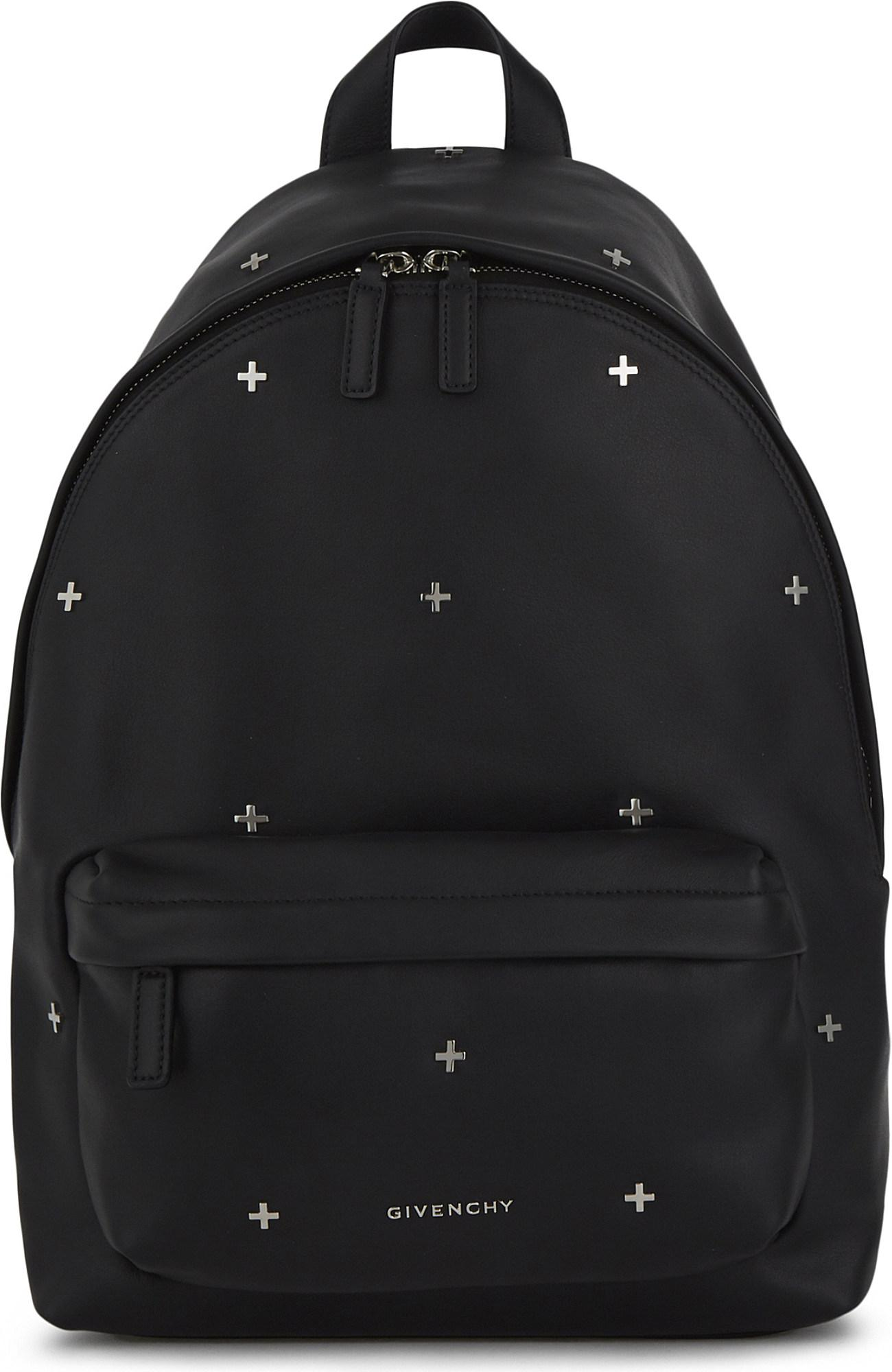 1fa380061192 Lyst - Givenchy Cross Small Leather Backpack in Black