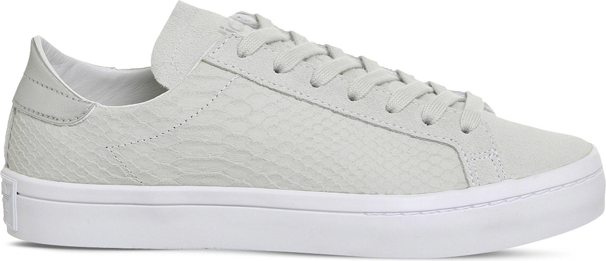Court Vantage Snake-effect Suede Trainers