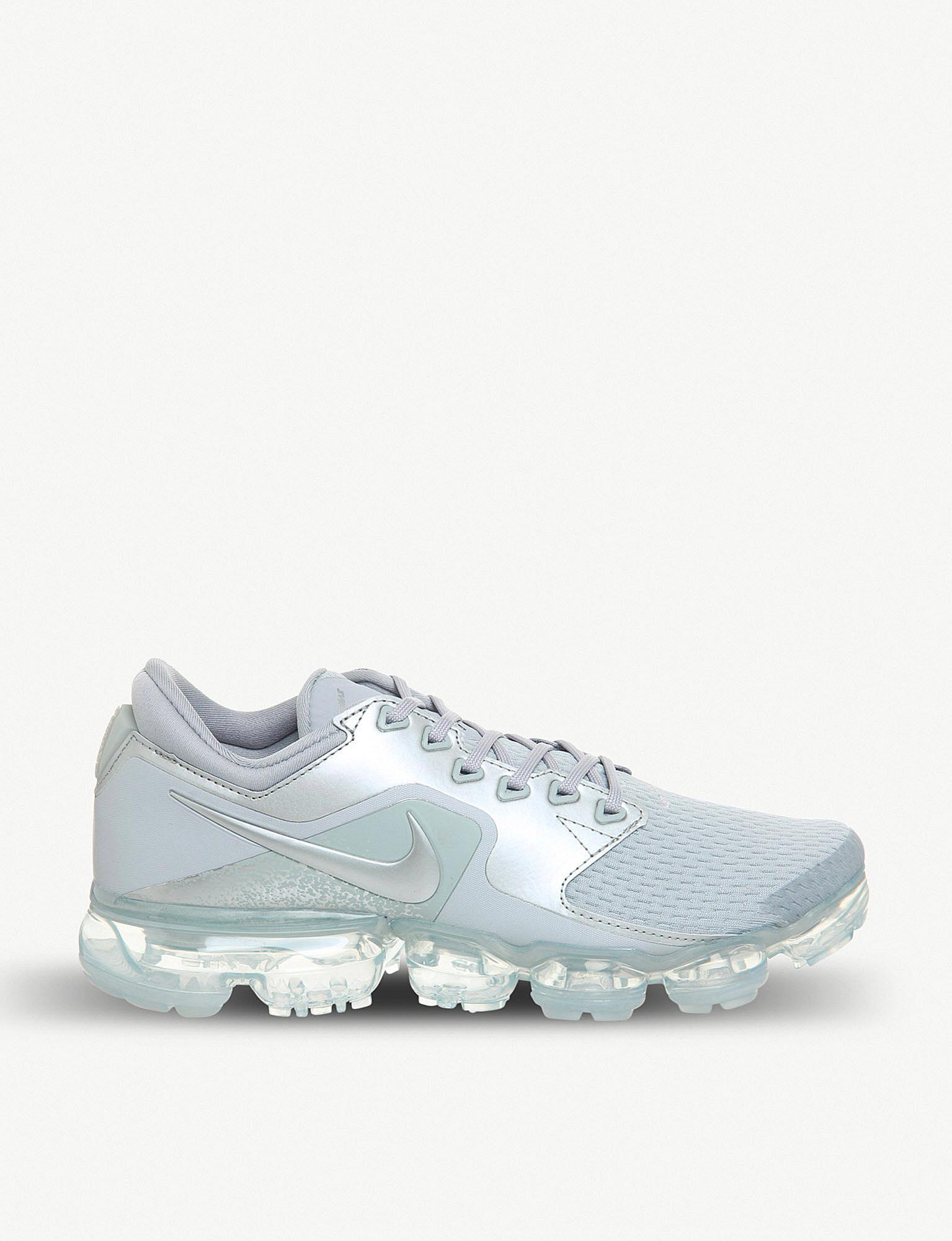 9e21a95881b Nike Air Vapormax Mesh And Metallic Trainers - Lyst