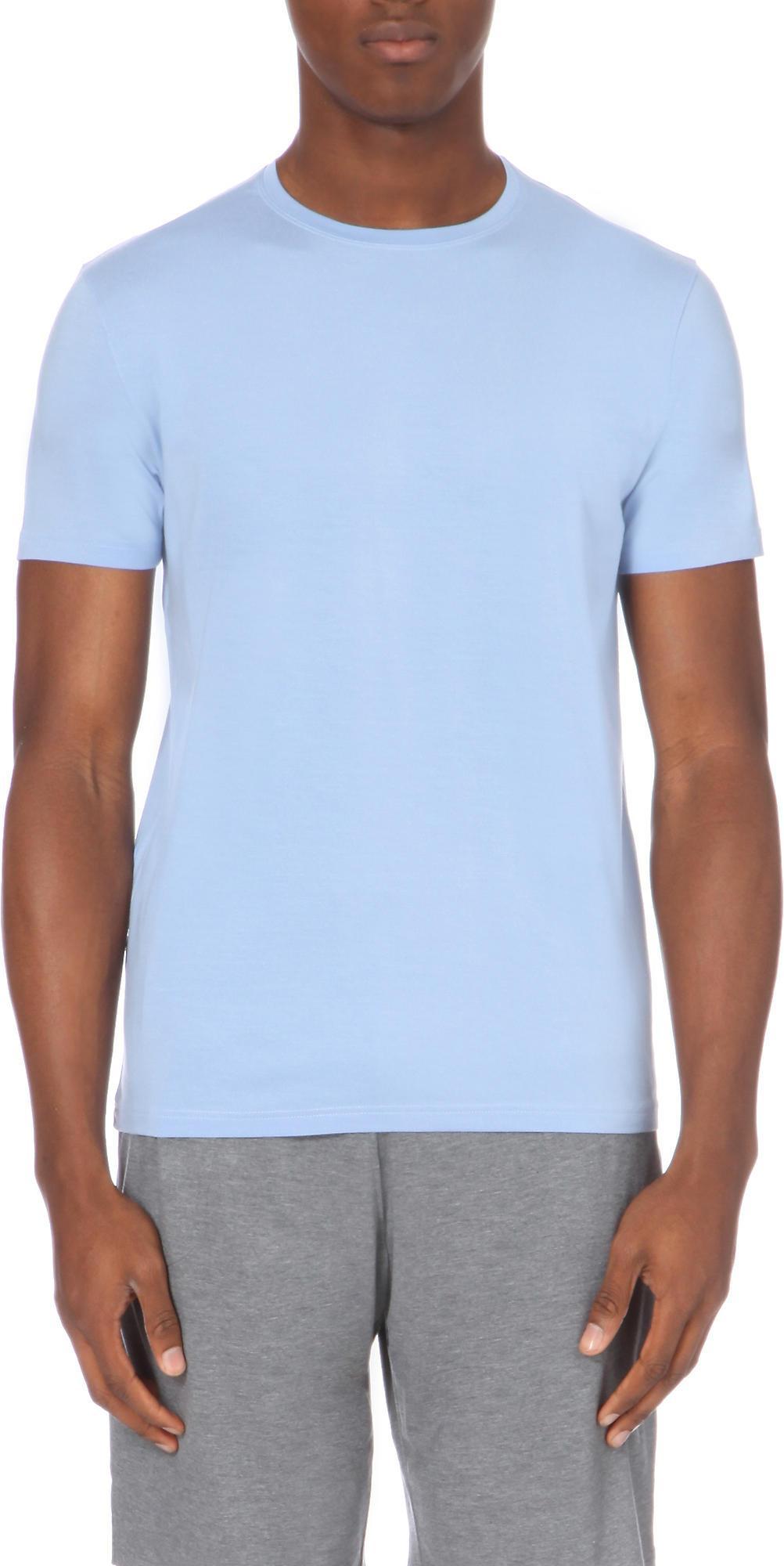 3a7444e0310a Derek Rose Basel Jersey T-shirt in Blue for Men - Lyst