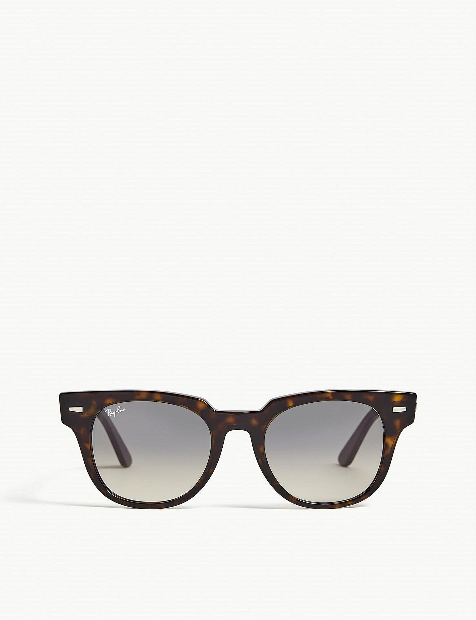 6af512d9e6f Ray-Ban. Women s Rb2168 Meteor Square-frame Havana Sunglasses