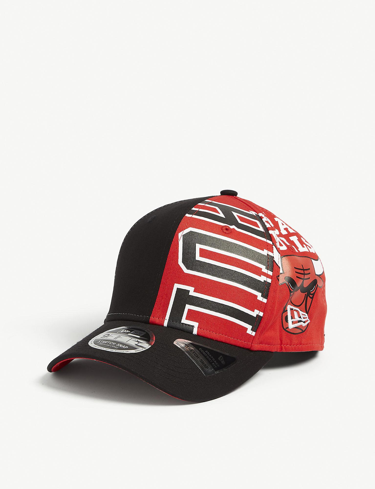 cheap picked up innovative design KTZ Cotton Chicago Bulls 9fifty Snapback Cap in Black Red (Red ...