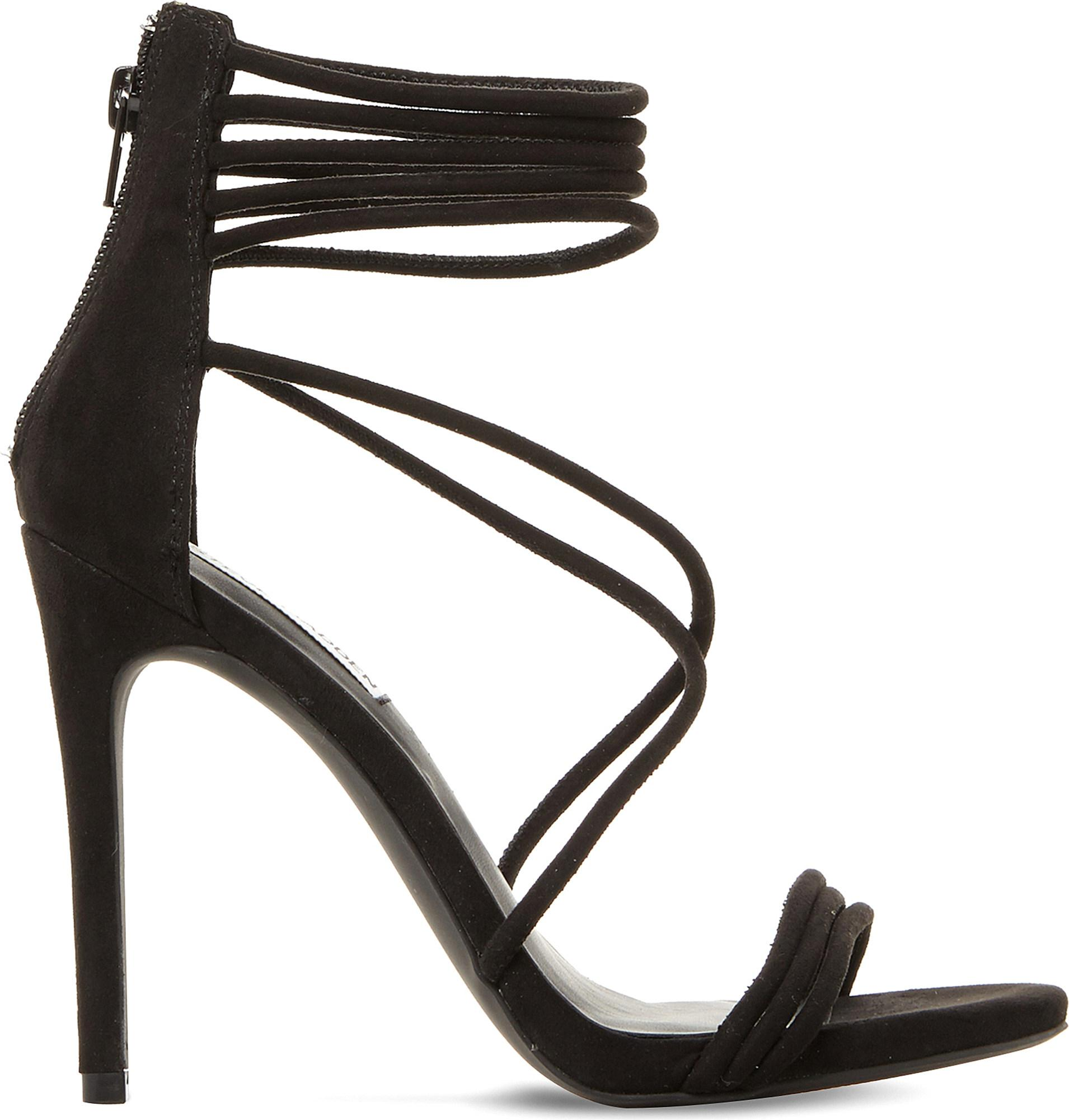60723015f3c Lyst - Steve Madden Answer Sm Suede Sandals in Black