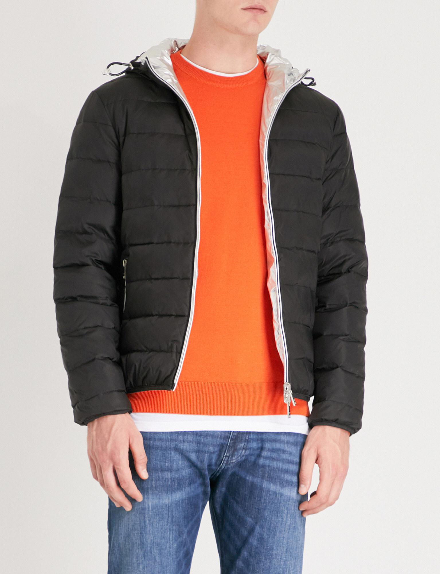 c34101bbf Emporio Armani Reversible Padded Shell-down Jacket in Black for Men ...