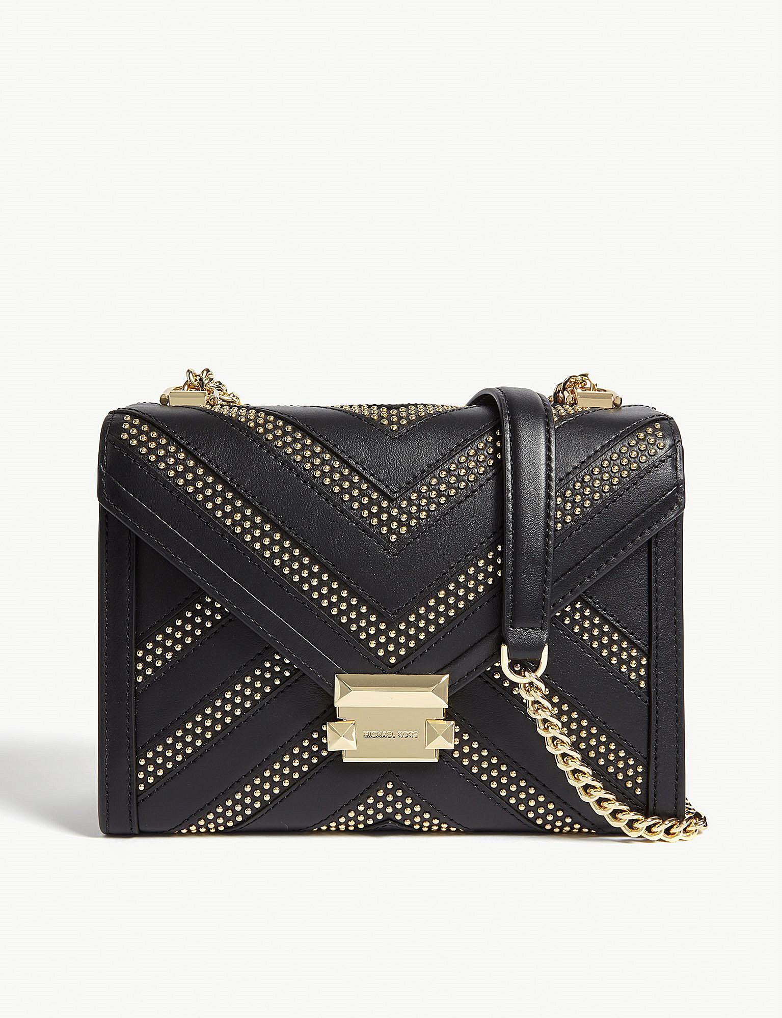 9c156c13783e MICHAEL Michael Kors. Women s Black Whitney Studded Leather Cross-body Bag