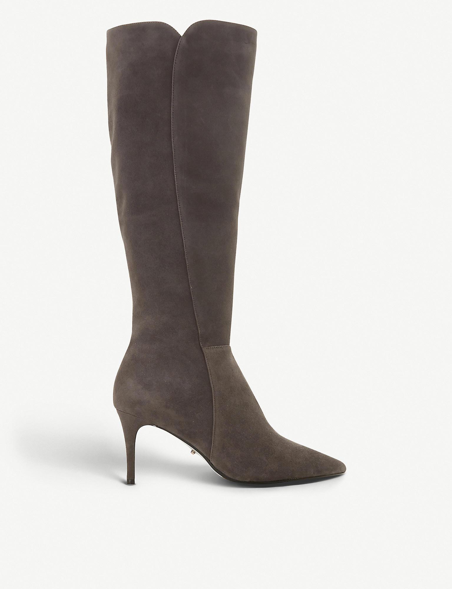 Dune Sakura Knee-high Suede Boots in