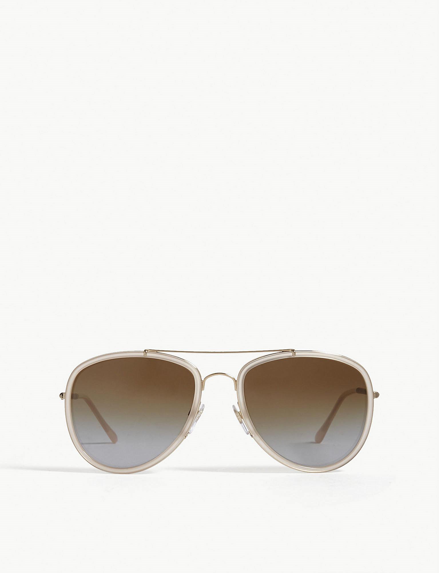 ba7f0bb170b Burberry B3090 Aviator Sunglasses - Lyst