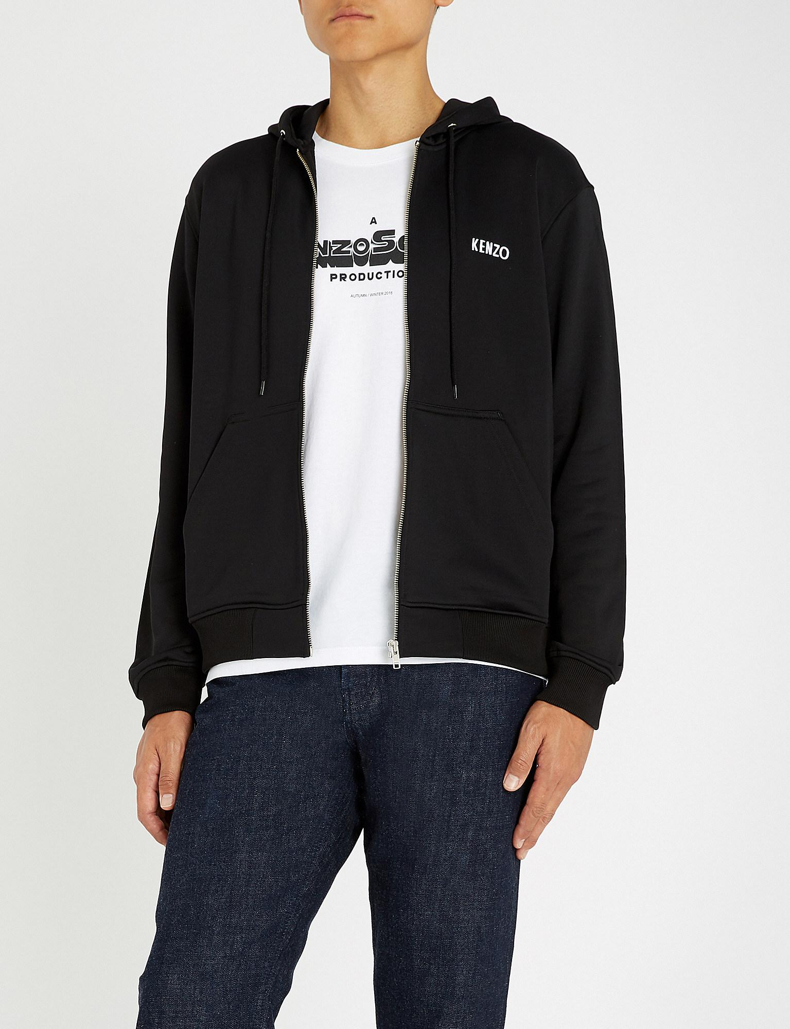 ea312f3ed KENZO - Black Dragon-embroidered Cotton-jersey Hoody for Men - Lyst. View  fullscreen
